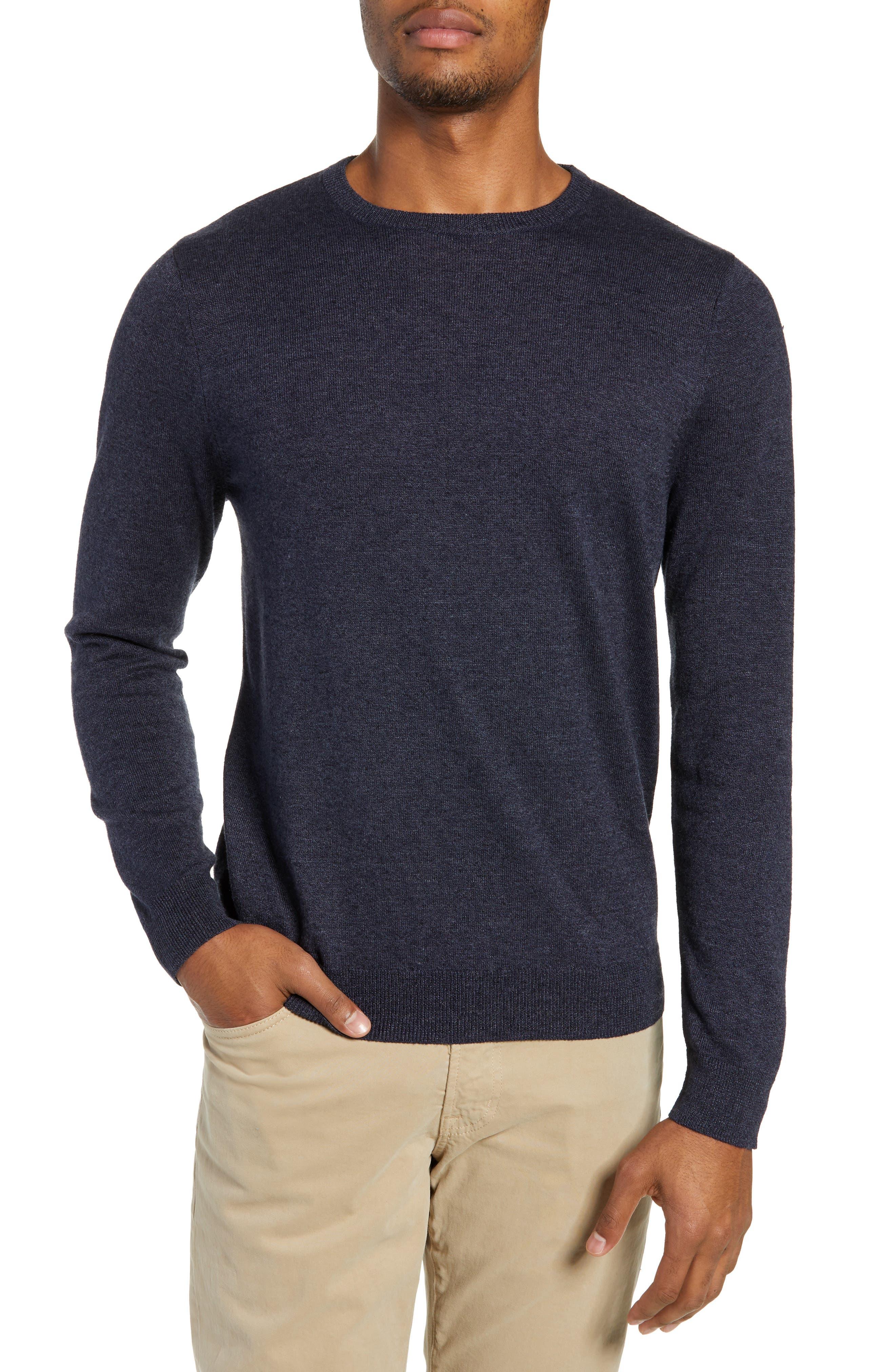 Nordstrom Shop Regular Fit Crewneck Sweater, Blue