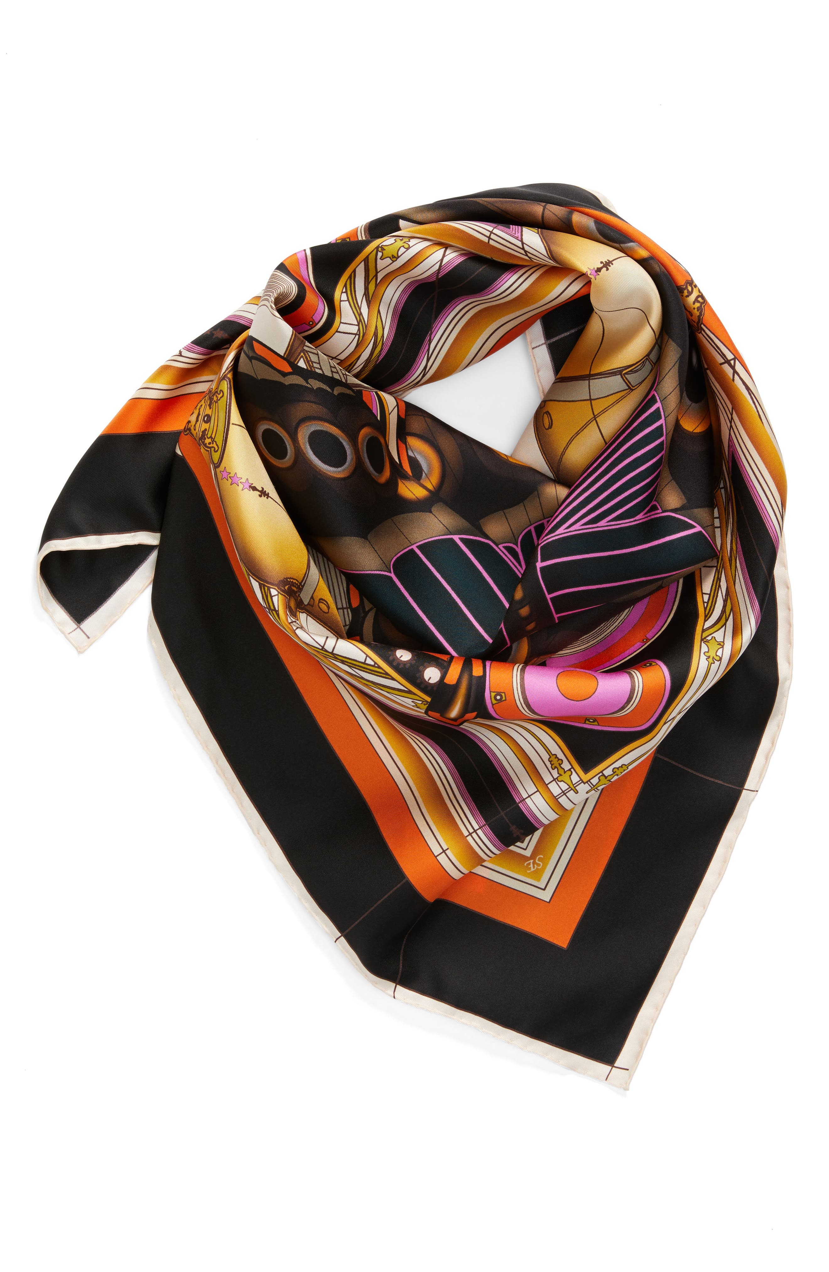 New Butterfly Silk Scarf,                             Alternate thumbnail 2, color,                             001