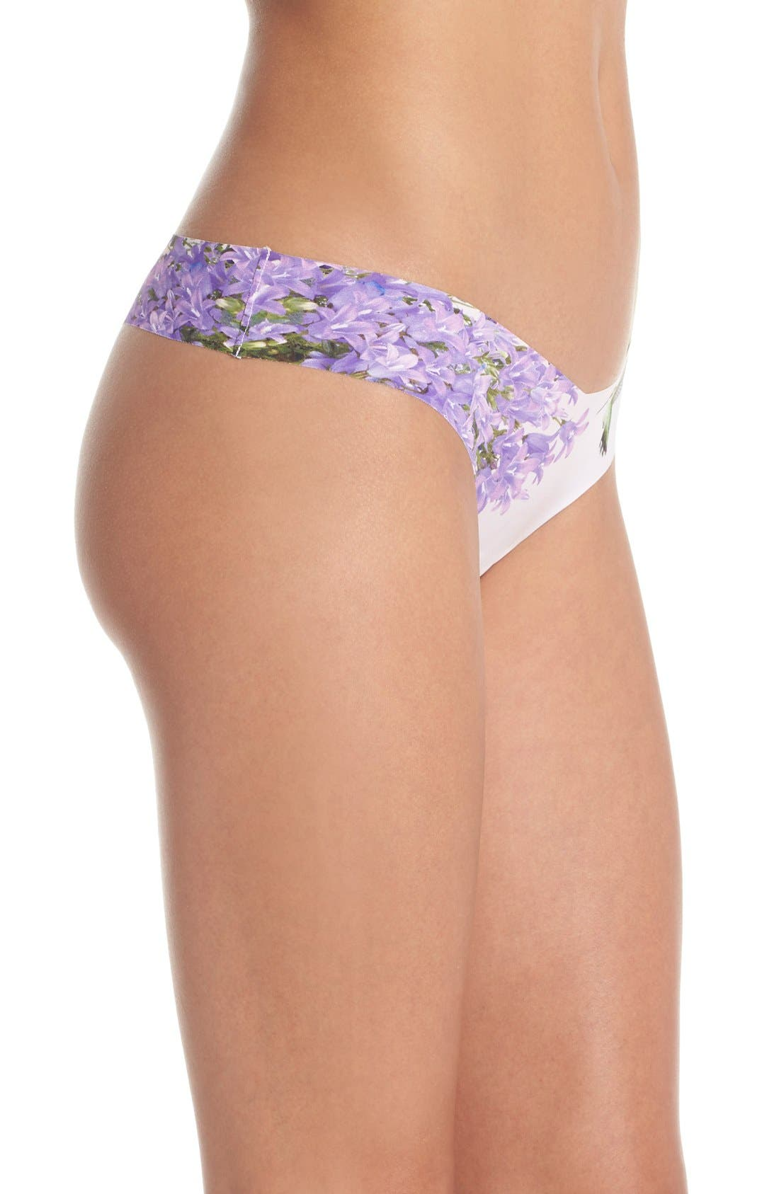 Print Microfiber Thong,                             Alternate thumbnail 302, color,