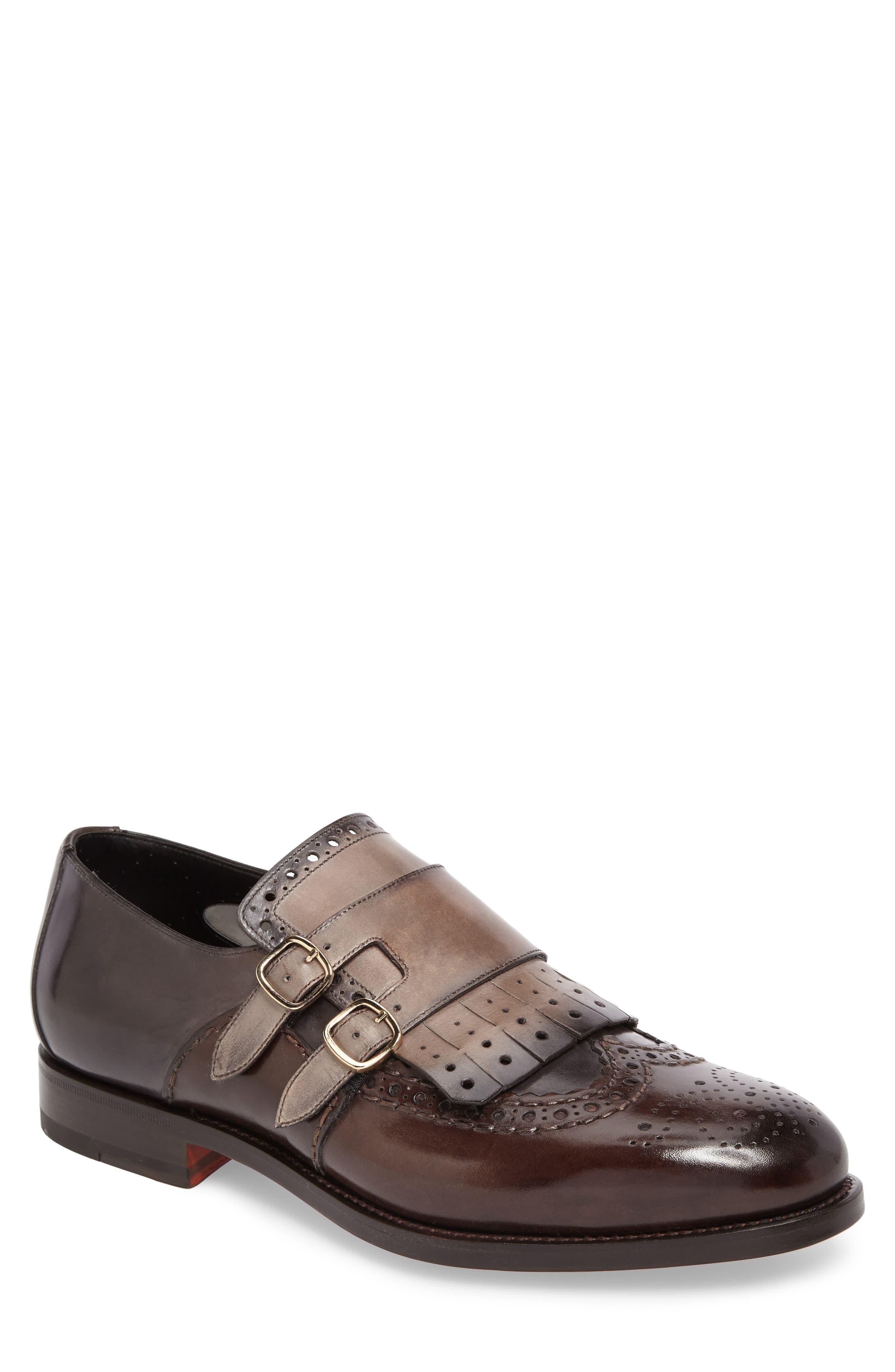 Goodwin Double Monk Strap Shoe,                             Main thumbnail 1, color,                             030