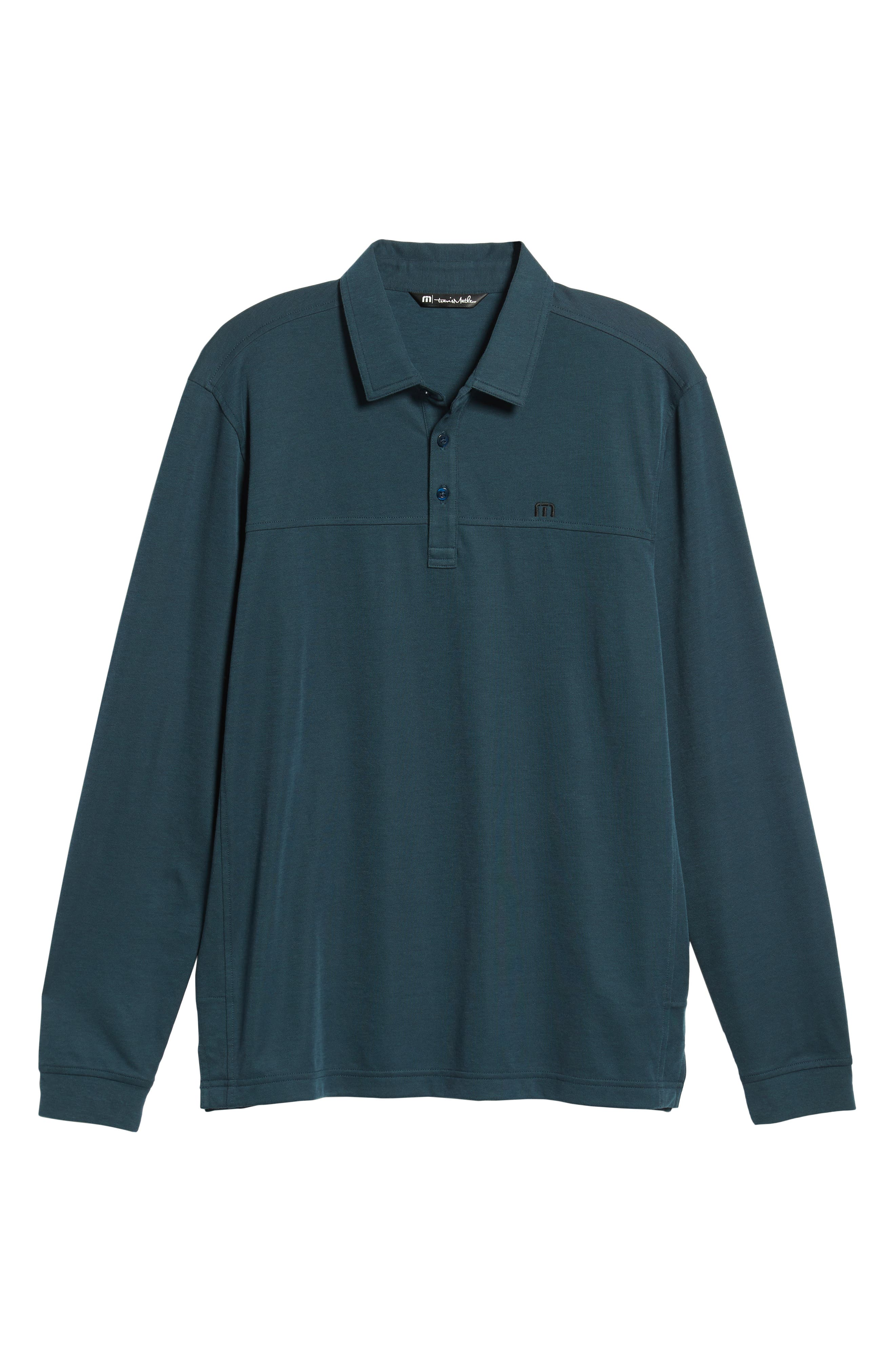 Wojo Piqué Polo,                             Alternate thumbnail 6, color,                             BLUE WING TEAL/BLACK