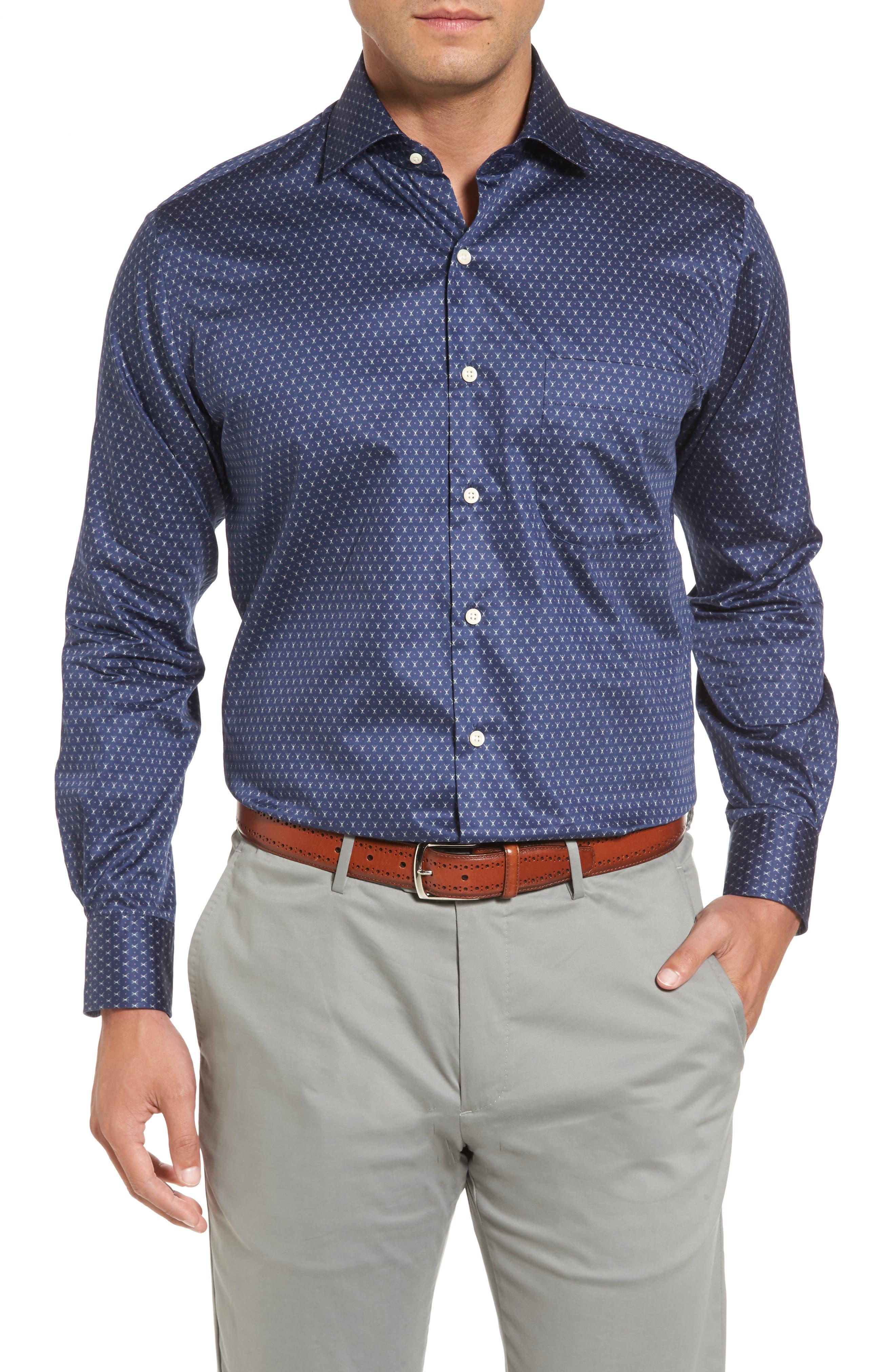 Cross Country Regular Fit Print Sport Shirt,                         Main,                         color, 424