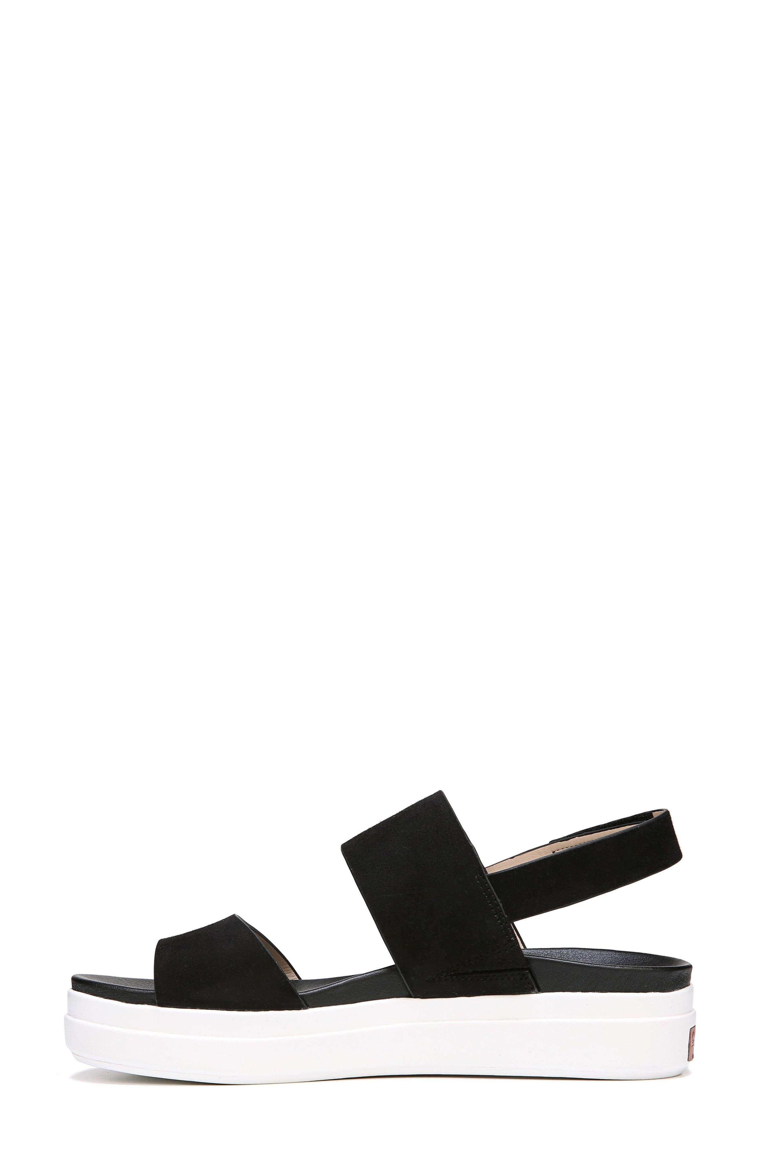 Scout Platform Sandal,                             Alternate thumbnail 3, color,                             BLACK SUEDE