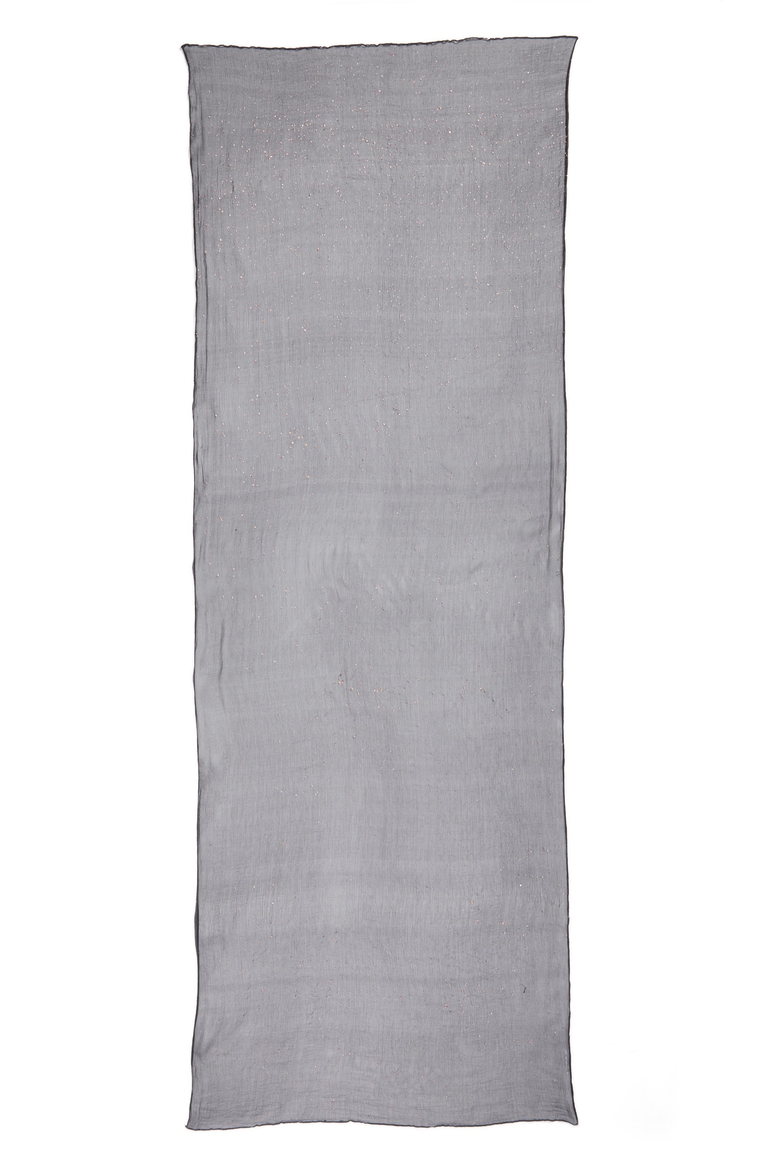 Metallic Fleck Silk Scarf,                             Alternate thumbnail 3, color,