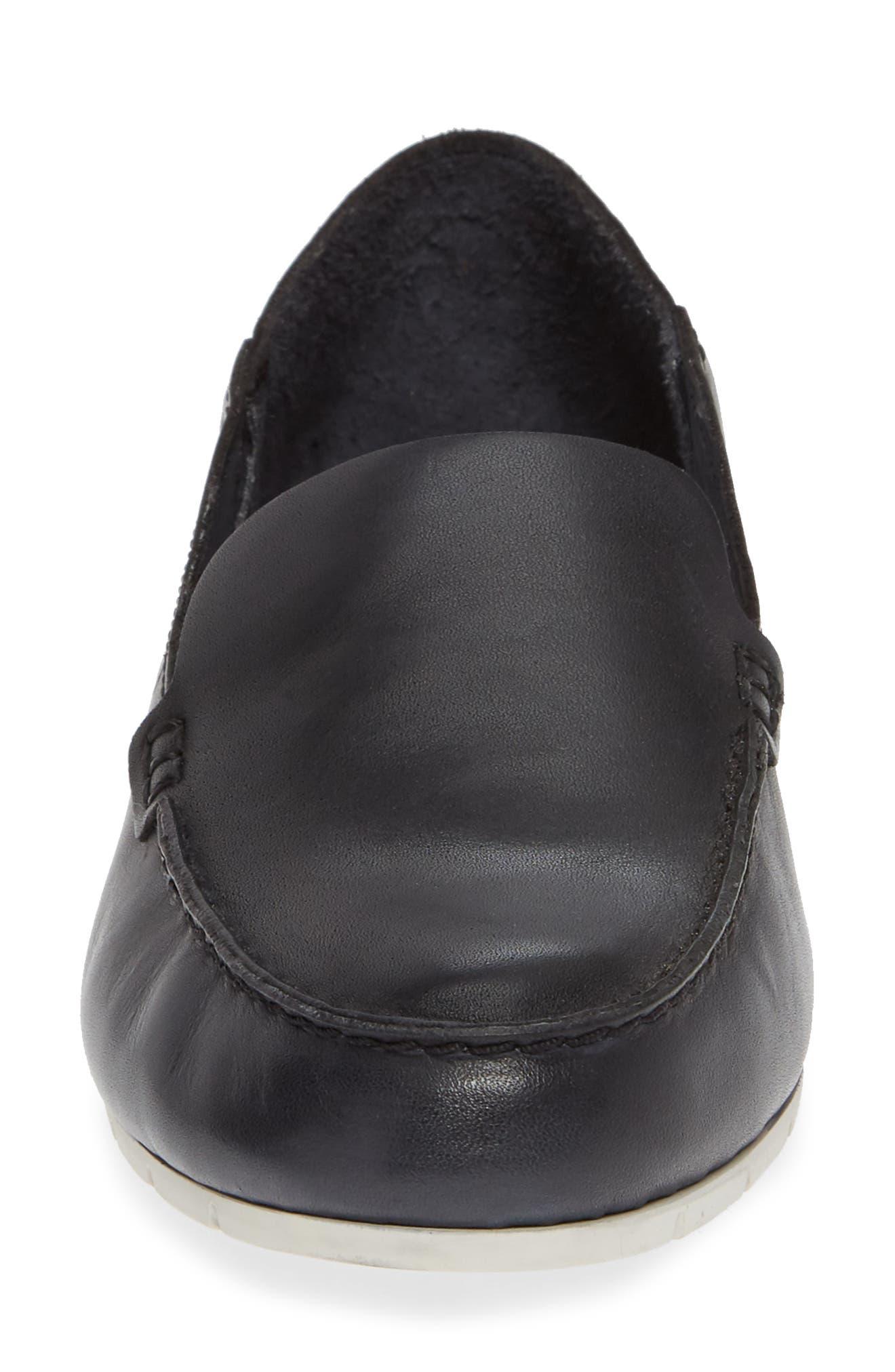 Sedona Venetian Loafer,                             Alternate thumbnail 4, color,                             BLACK LEATHER