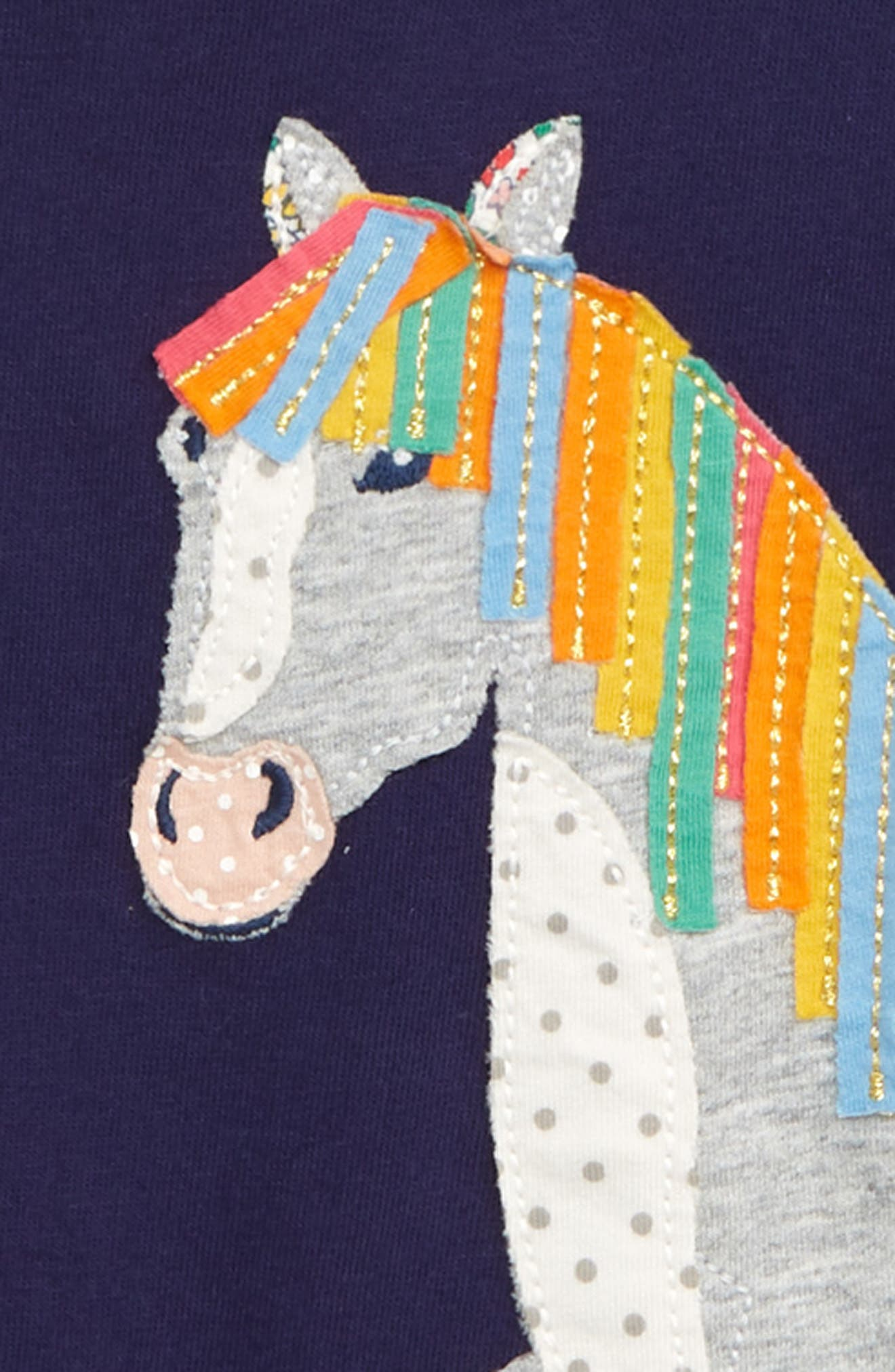 Animal Appliqué Tee,                             Alternate thumbnail 2, color,                             PRUSSIAN BLUE HORSE