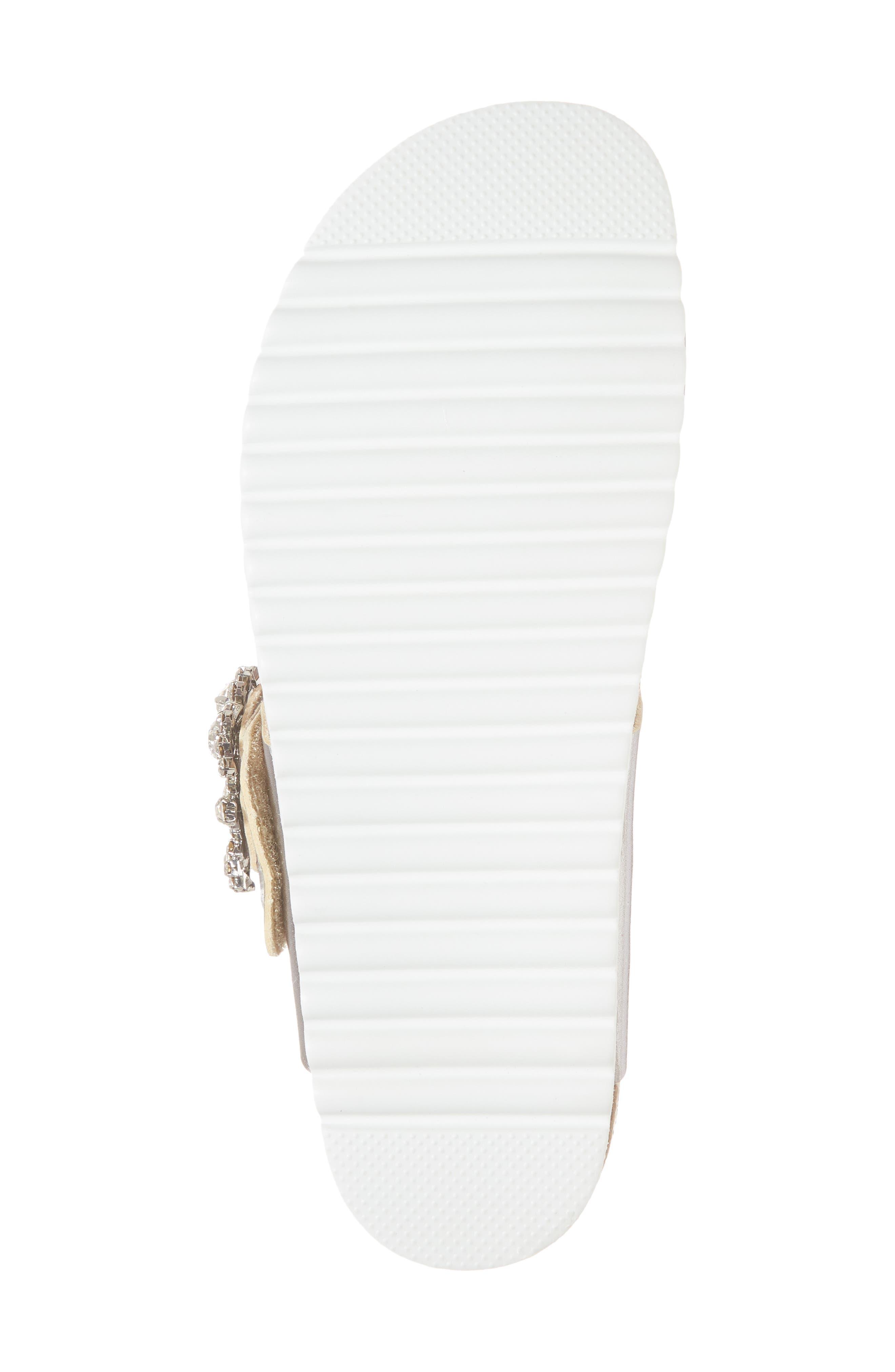 Bianca Embellished Slide Sandal,                             Alternate thumbnail 6, color,                             048