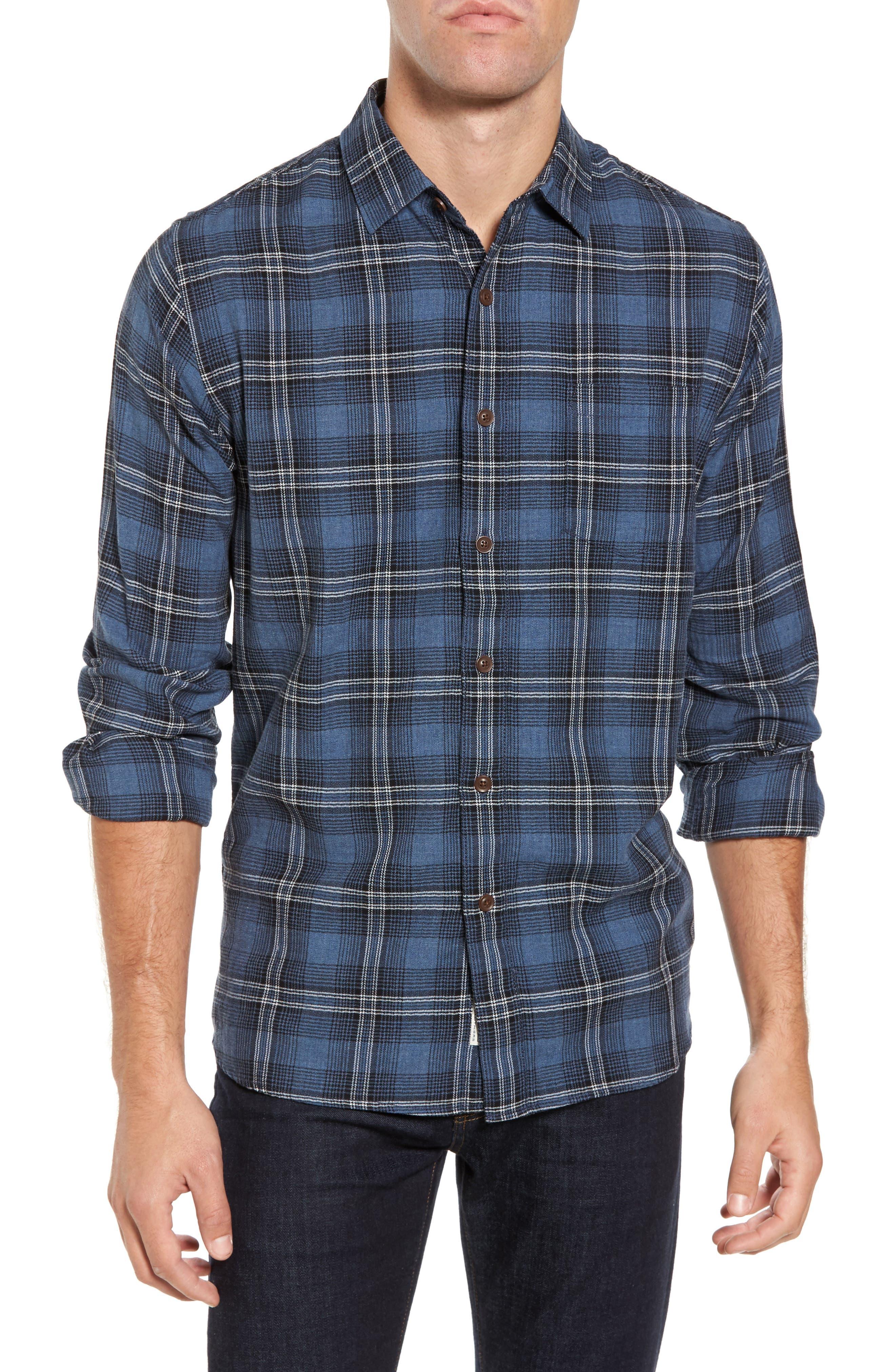 Truman Slim Fit Herringbone Twill Sport Shirt,                         Main,                         color,