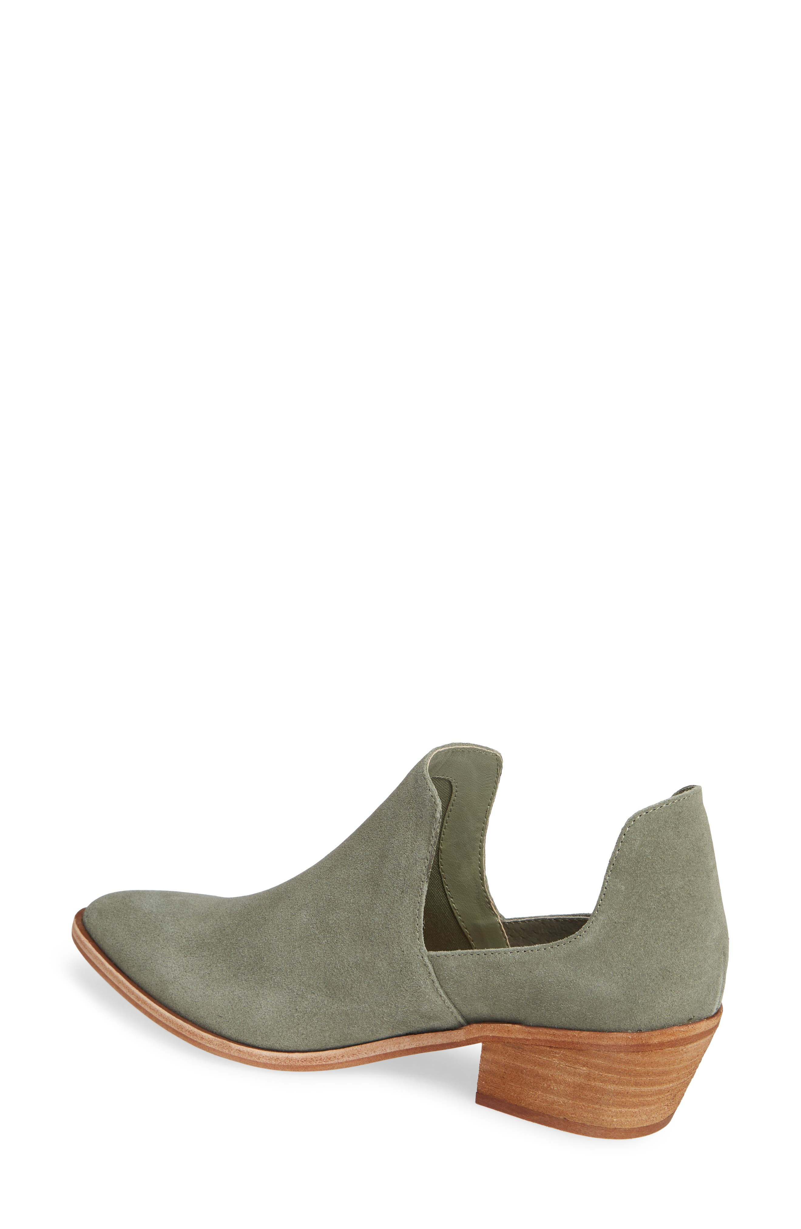 Focus Open Sided Bootie,                             Alternate thumbnail 2, color,                             OLIVE SUEDE