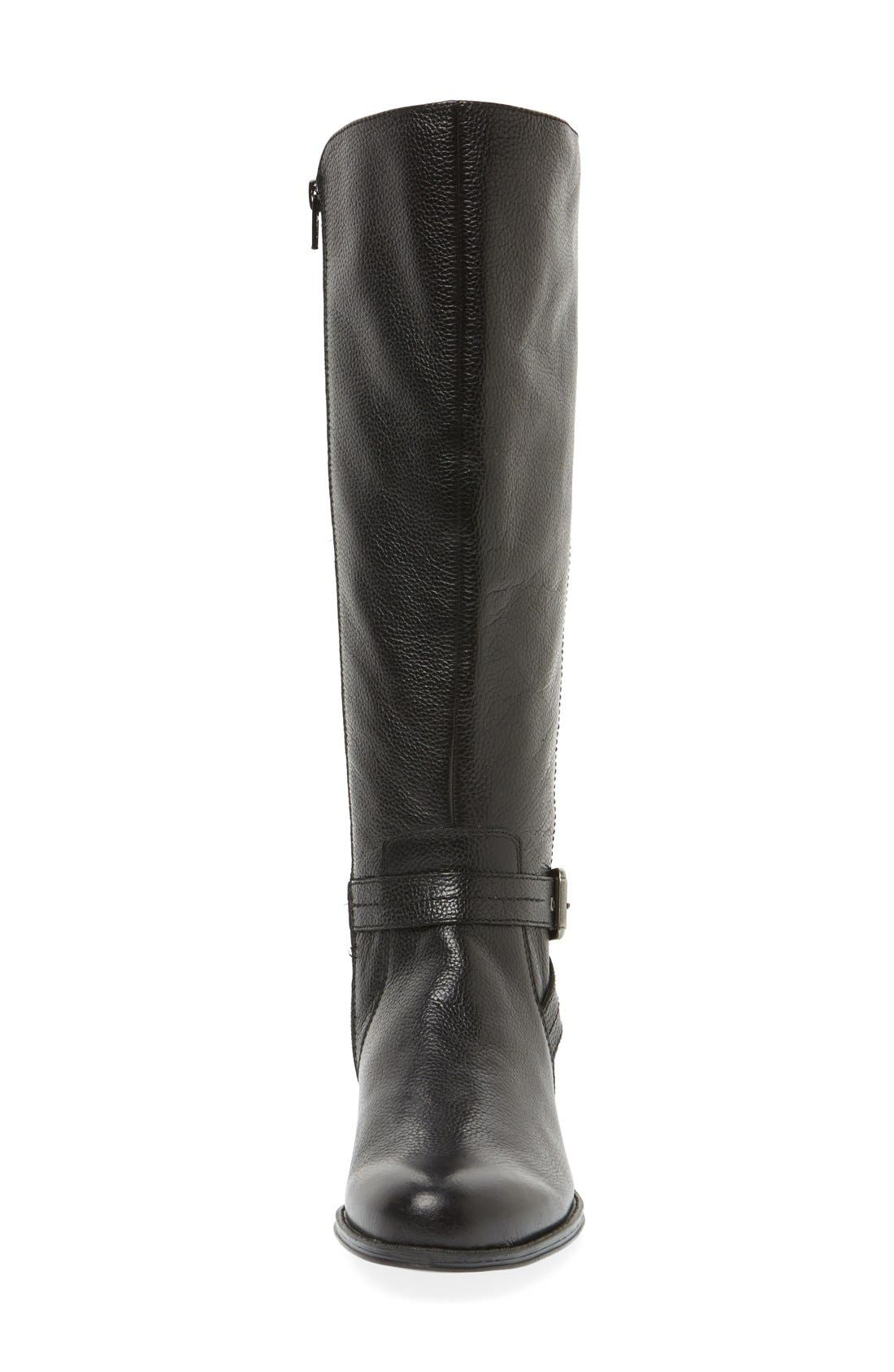 'Jelina' Riding Boot,                             Alternate thumbnail 3, color,                             001