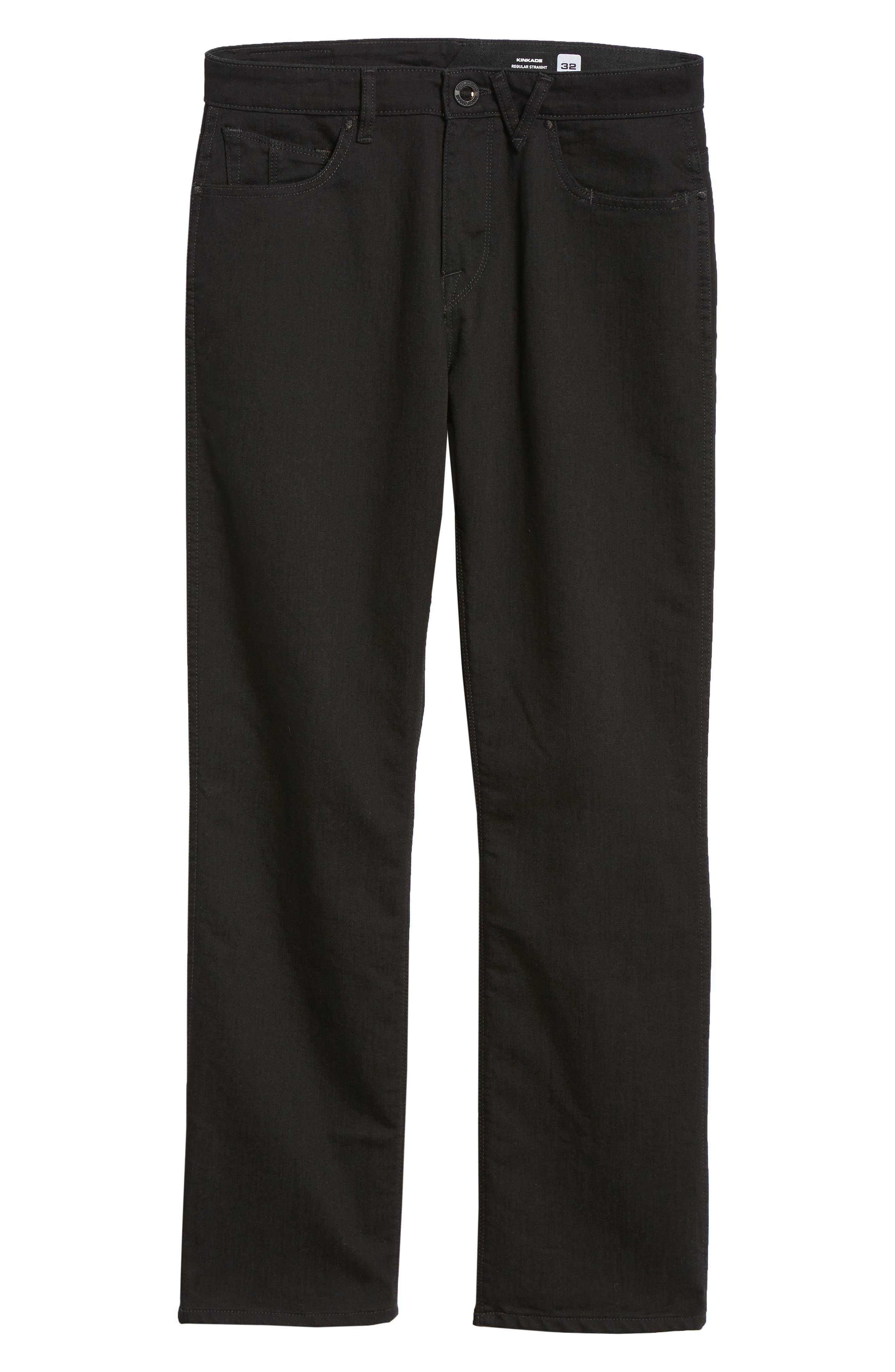 Kinkade Slim Fit Jeans,                             Alternate thumbnail 6, color,                             TOUGH BLACK