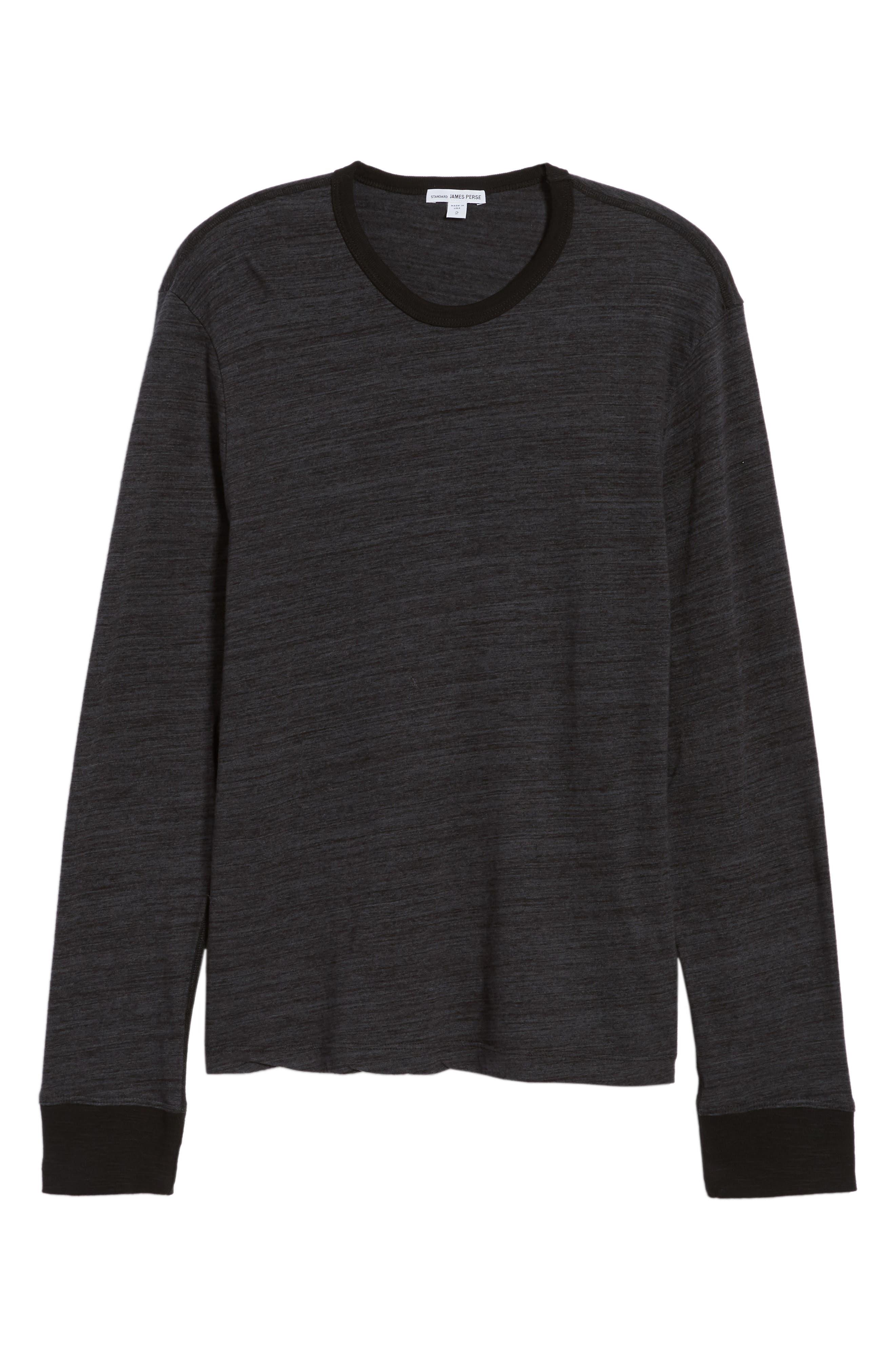 Regular Fit Top Dyed Crewneck T-Shirt,                             Alternate thumbnail 6, color,                             002