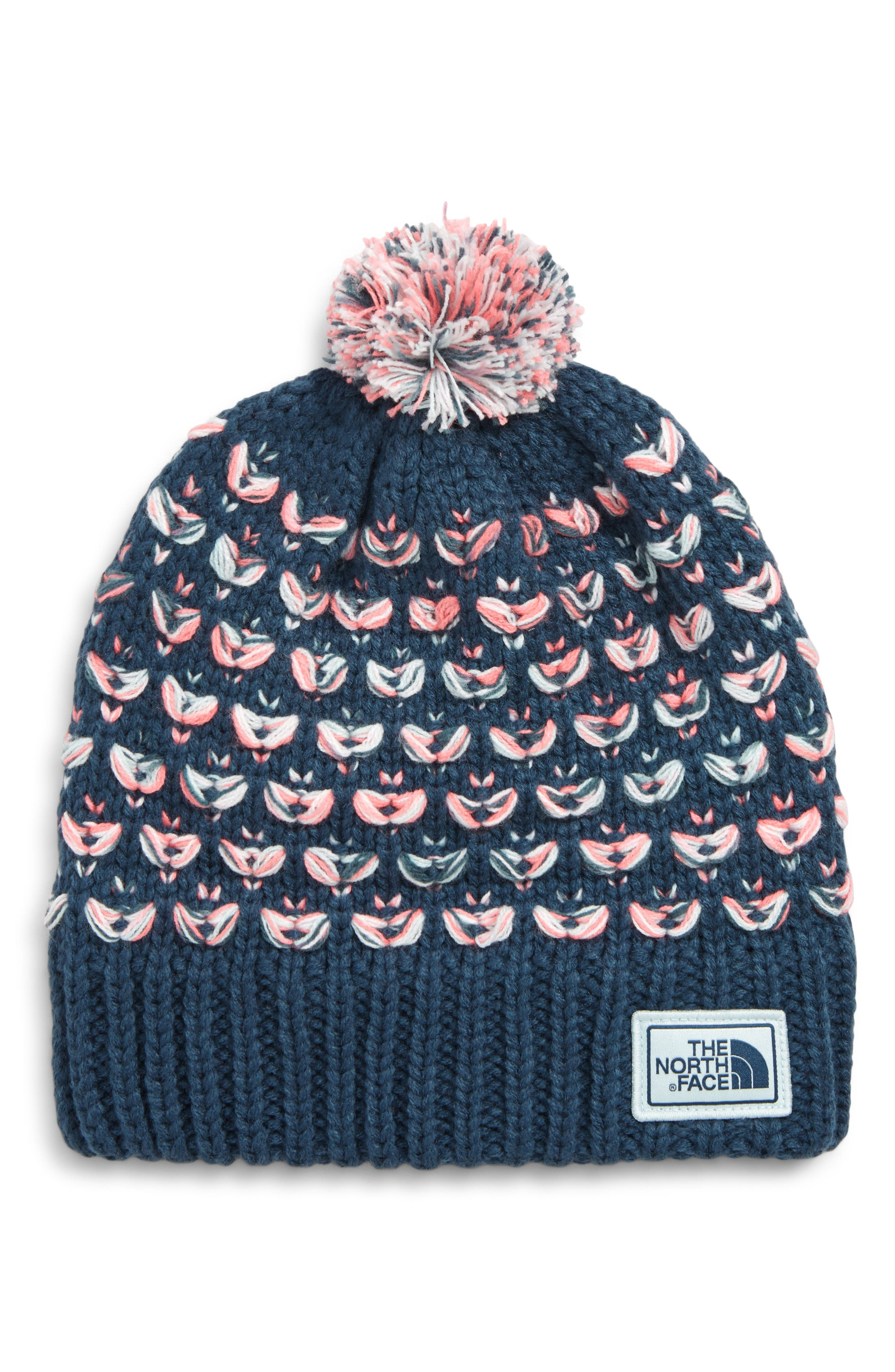 Girls The North Face Chunky Pom Beanie