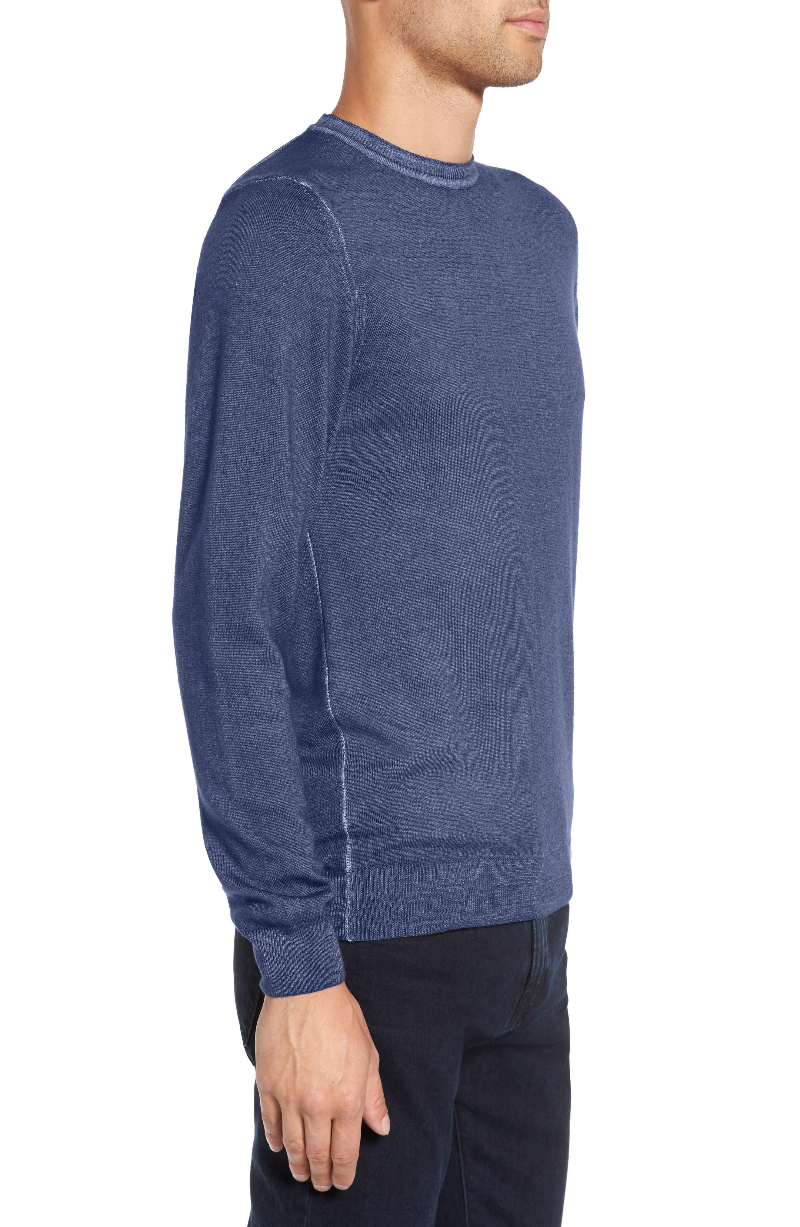 V-Neck Merino Wool Sweater,                             Alternate thumbnail 8, color,