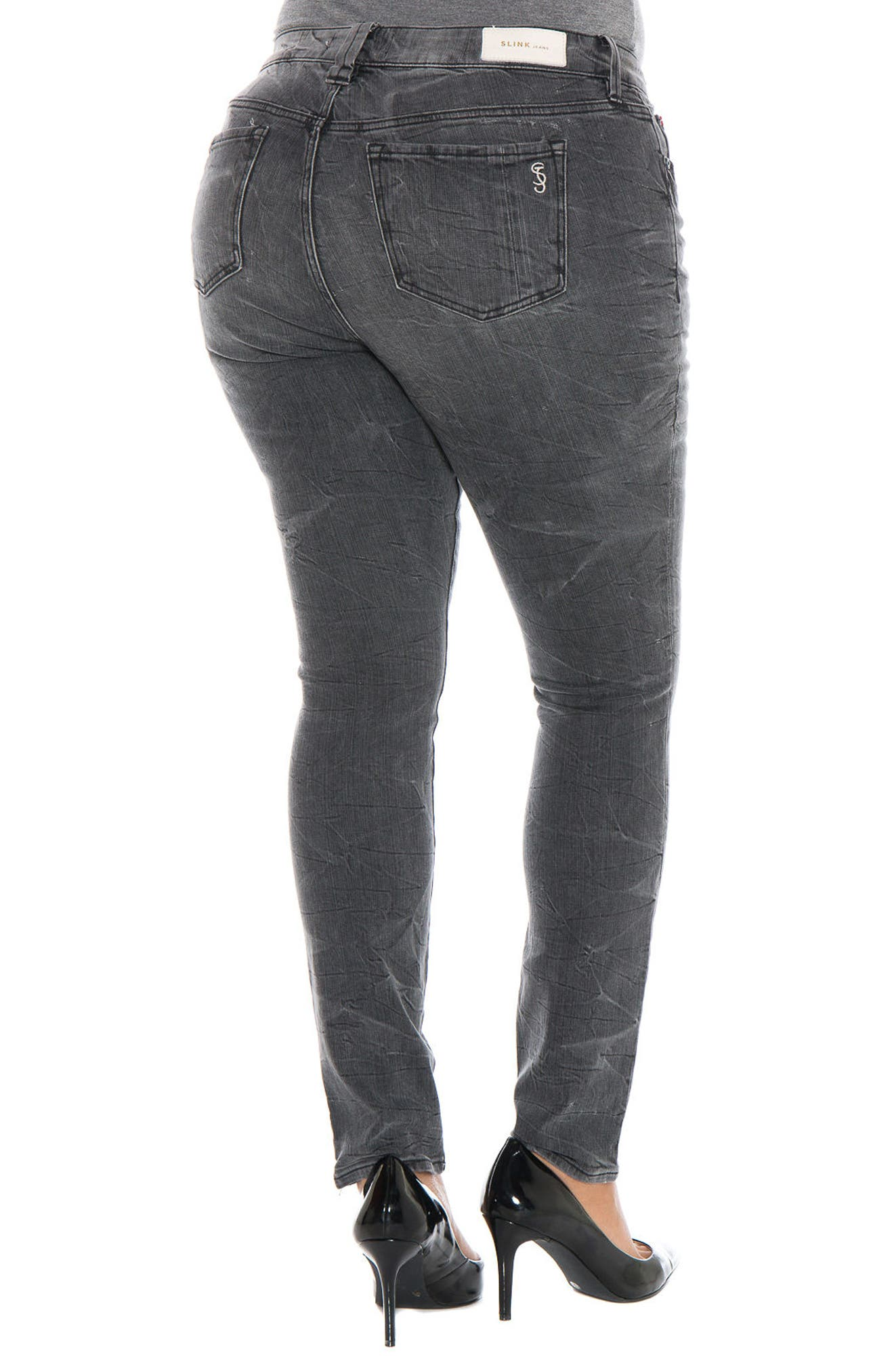 Stretch Skinny Jeans,                             Alternate thumbnail 2, color,                             400