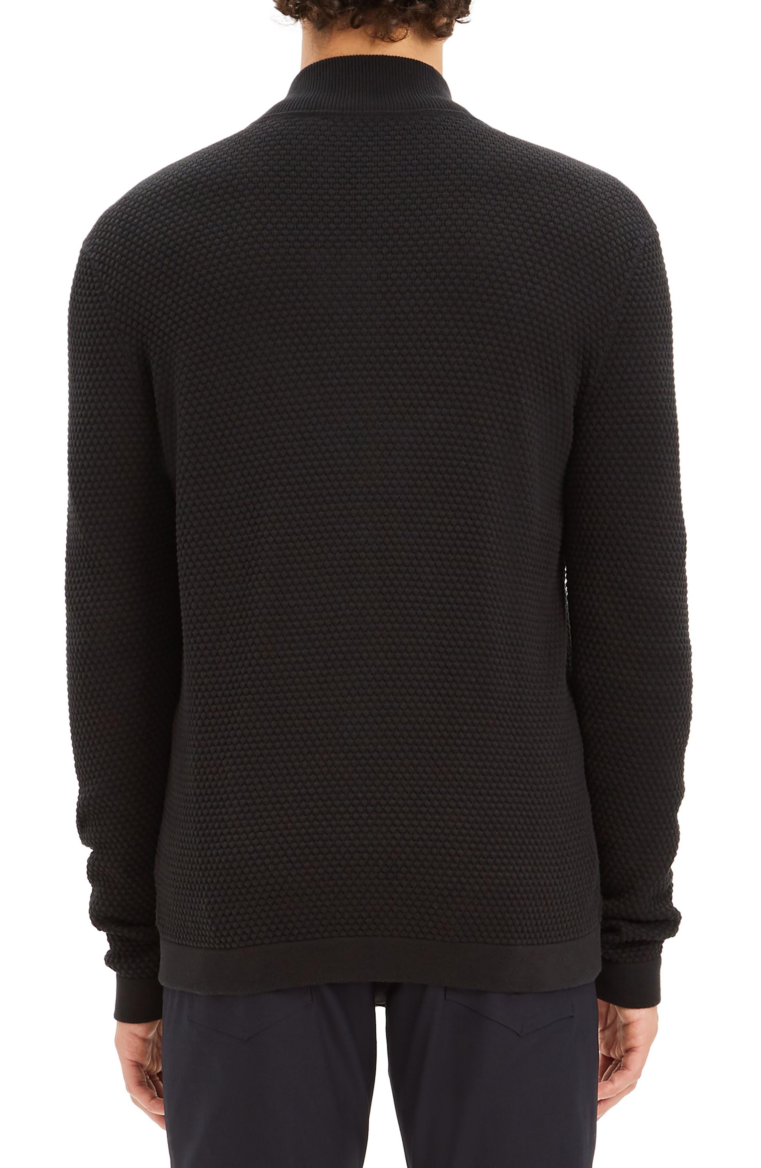 Udeval Breach Regular Fit Zip Sweater,                             Alternate thumbnail 2, color,                             BLACK