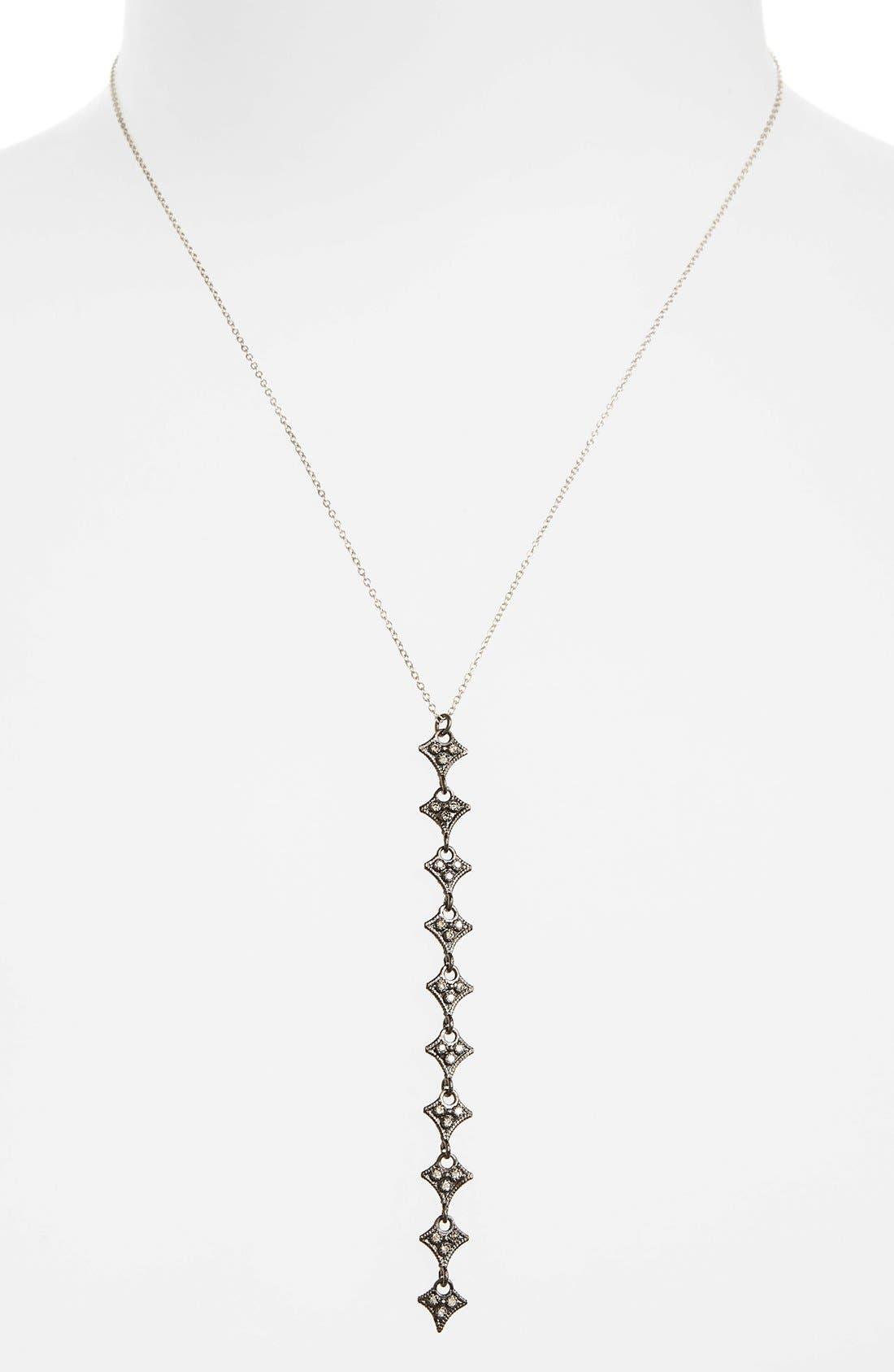 New World Crivelli Diamond Y-Necklace,                         Main,                         color, CHAMPAGNE/ BLACK