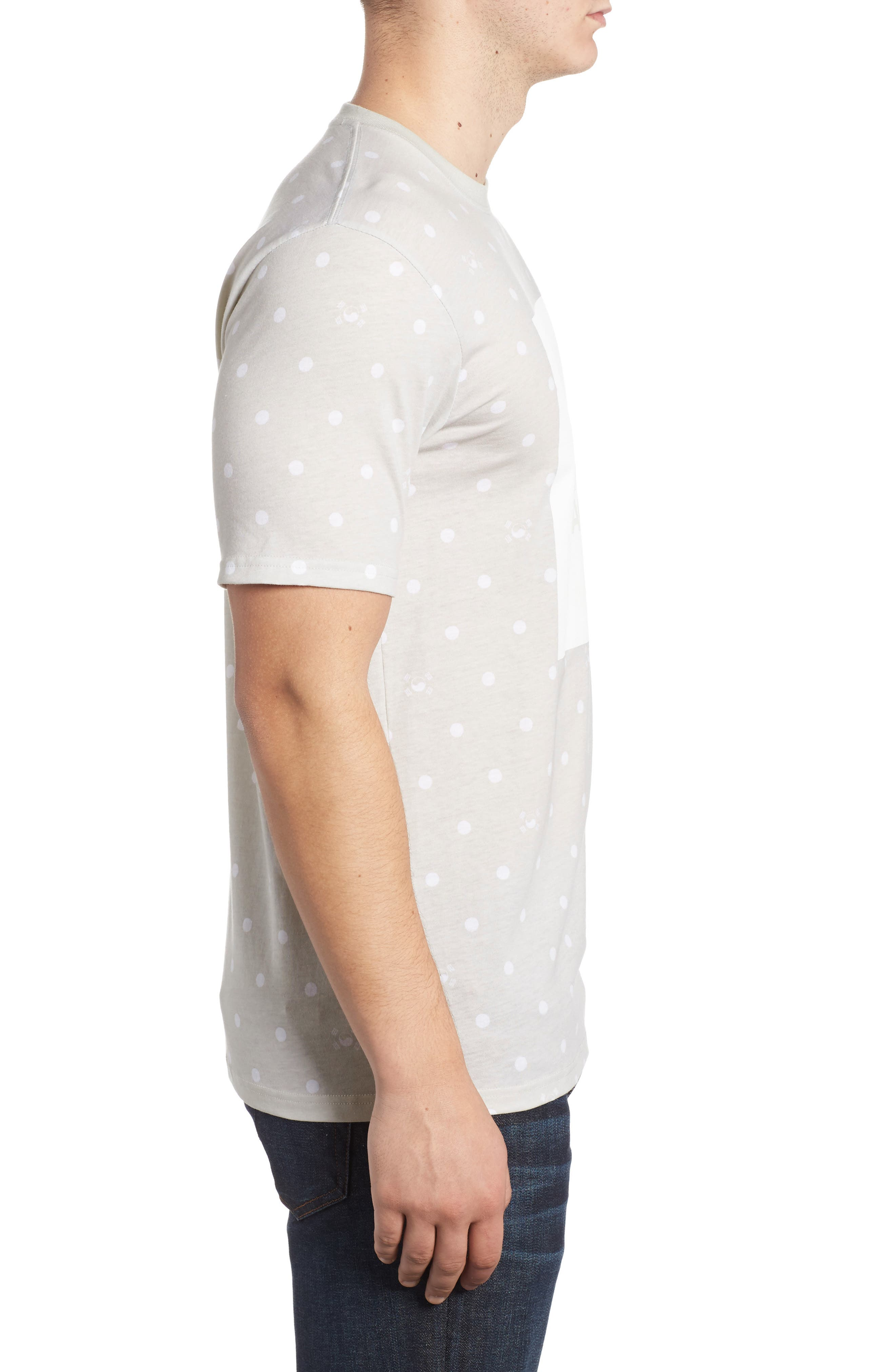 International Collection Star Print T-Shirt,                             Alternate thumbnail 3, color,                             030