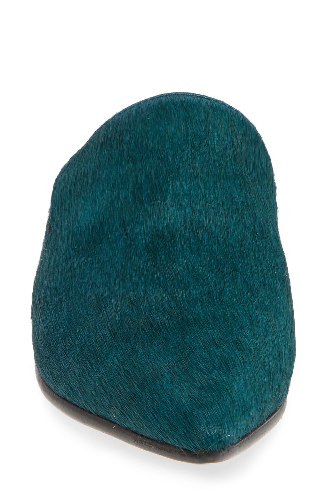Ilaria Genuine Calf Hair Mule,                             Alternate thumbnail 4, color,                             PINE GREEN CALF HAIR