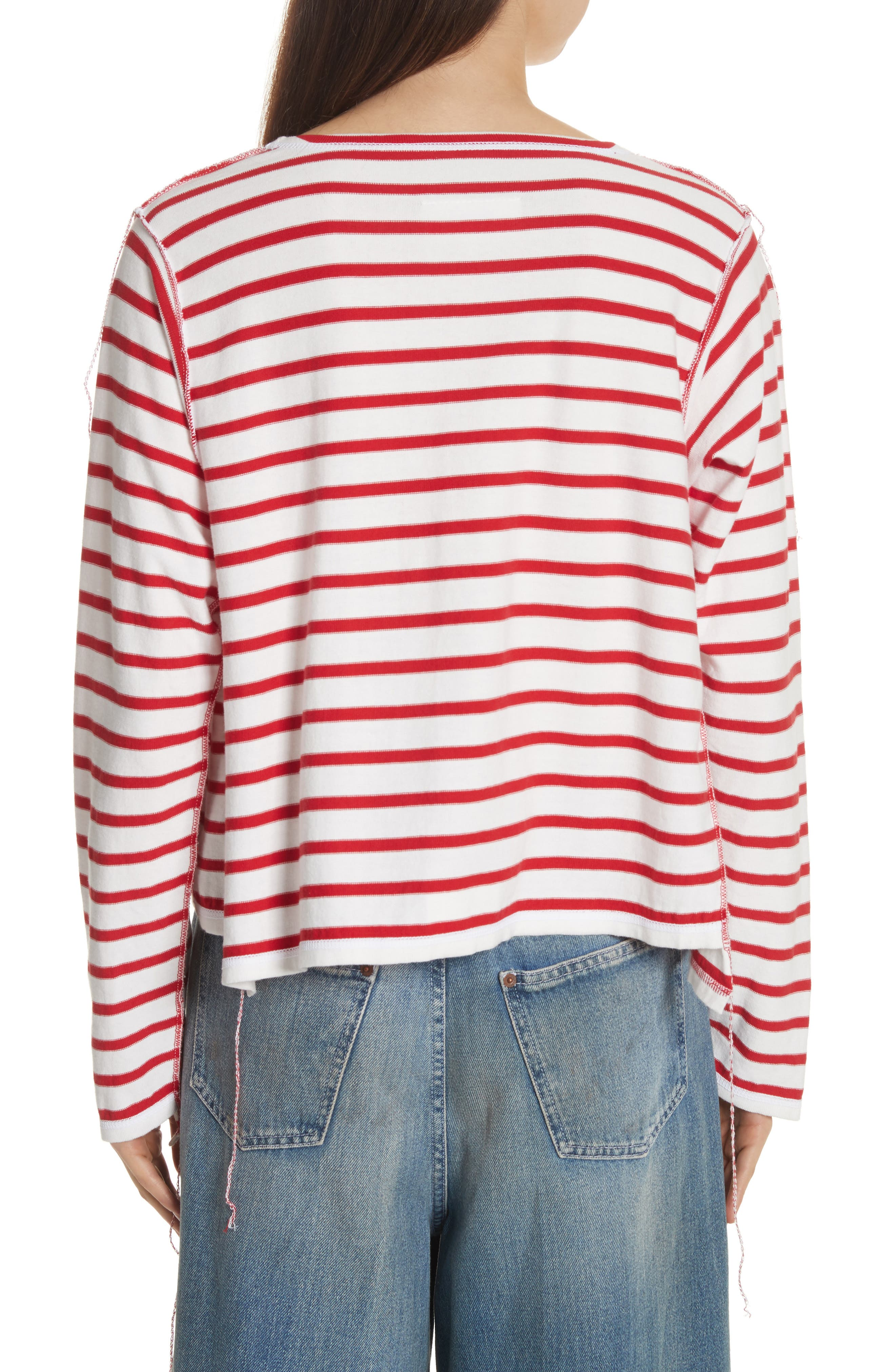 Inside Out Stripe Sweater,                             Alternate thumbnail 2, color,                             600