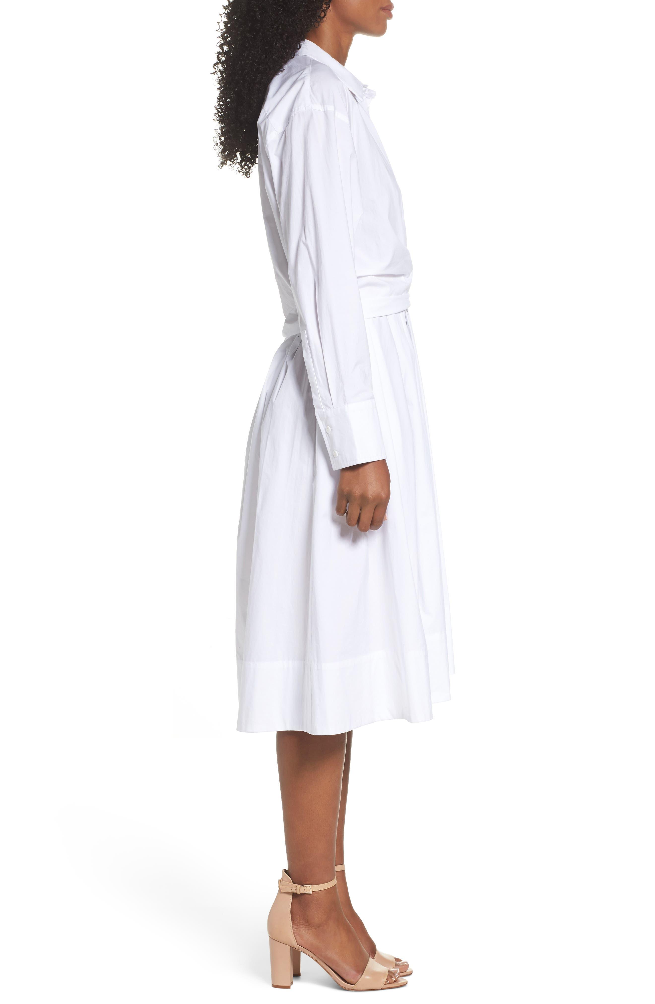 Tiffany Cotton Shirtdress,                             Alternate thumbnail 3, color,