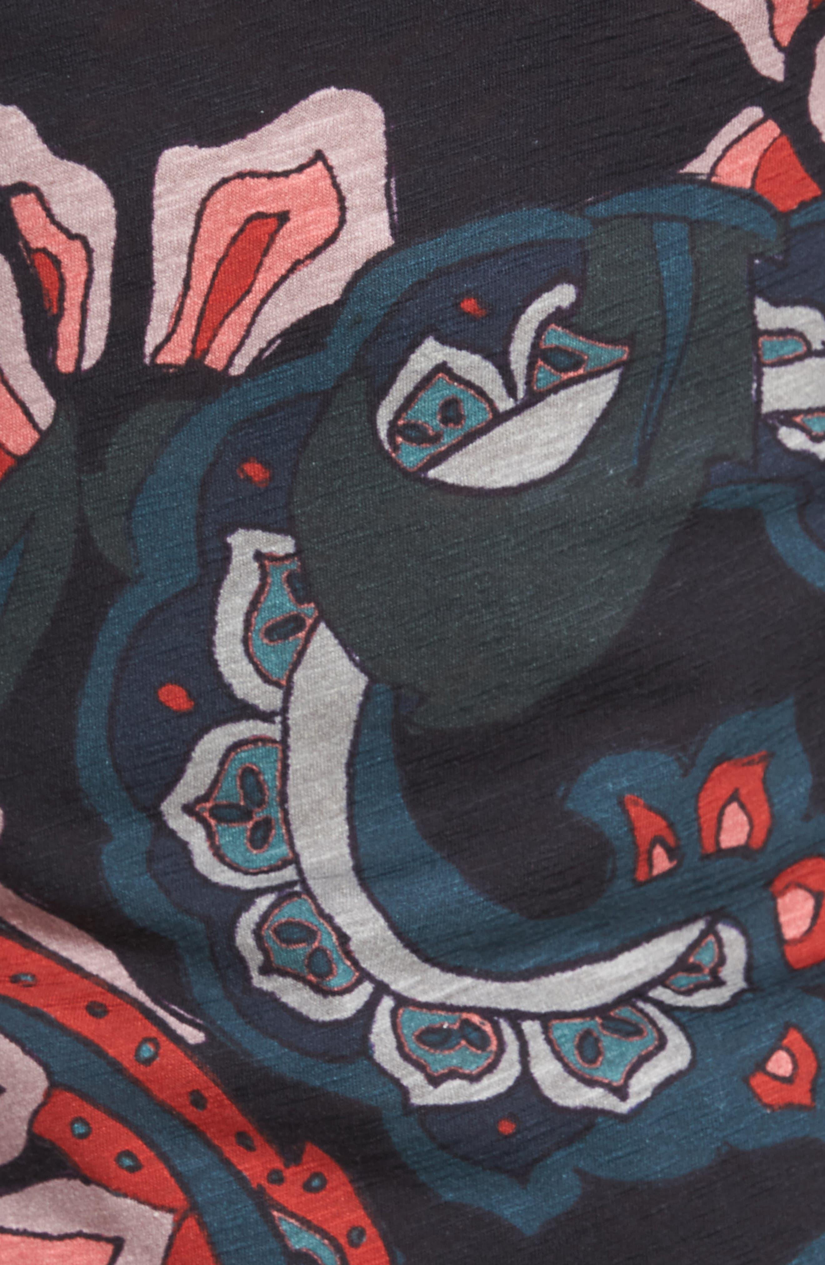 Batsby Paisley Print T-Shirt,                             Alternate thumbnail 5, color,                             601