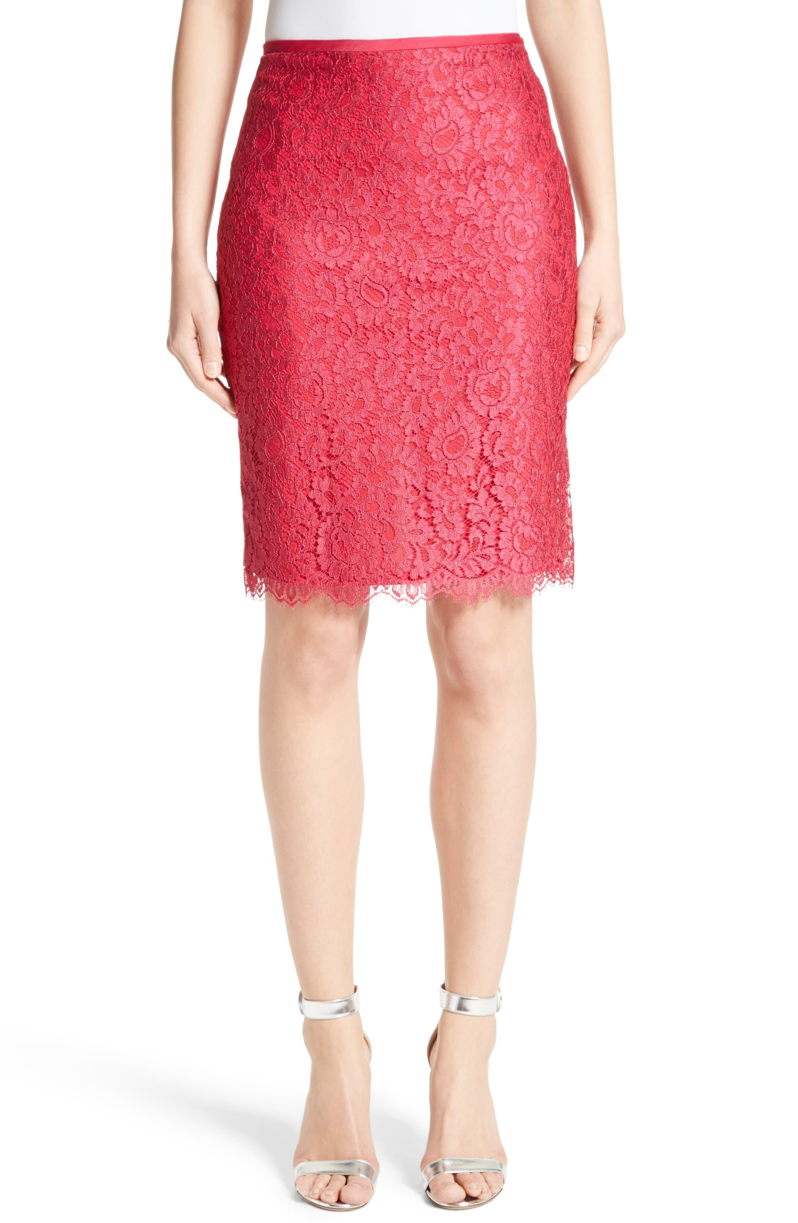 Double Scallop Paisley Lace Skirt,                         Main,                         color, 601
