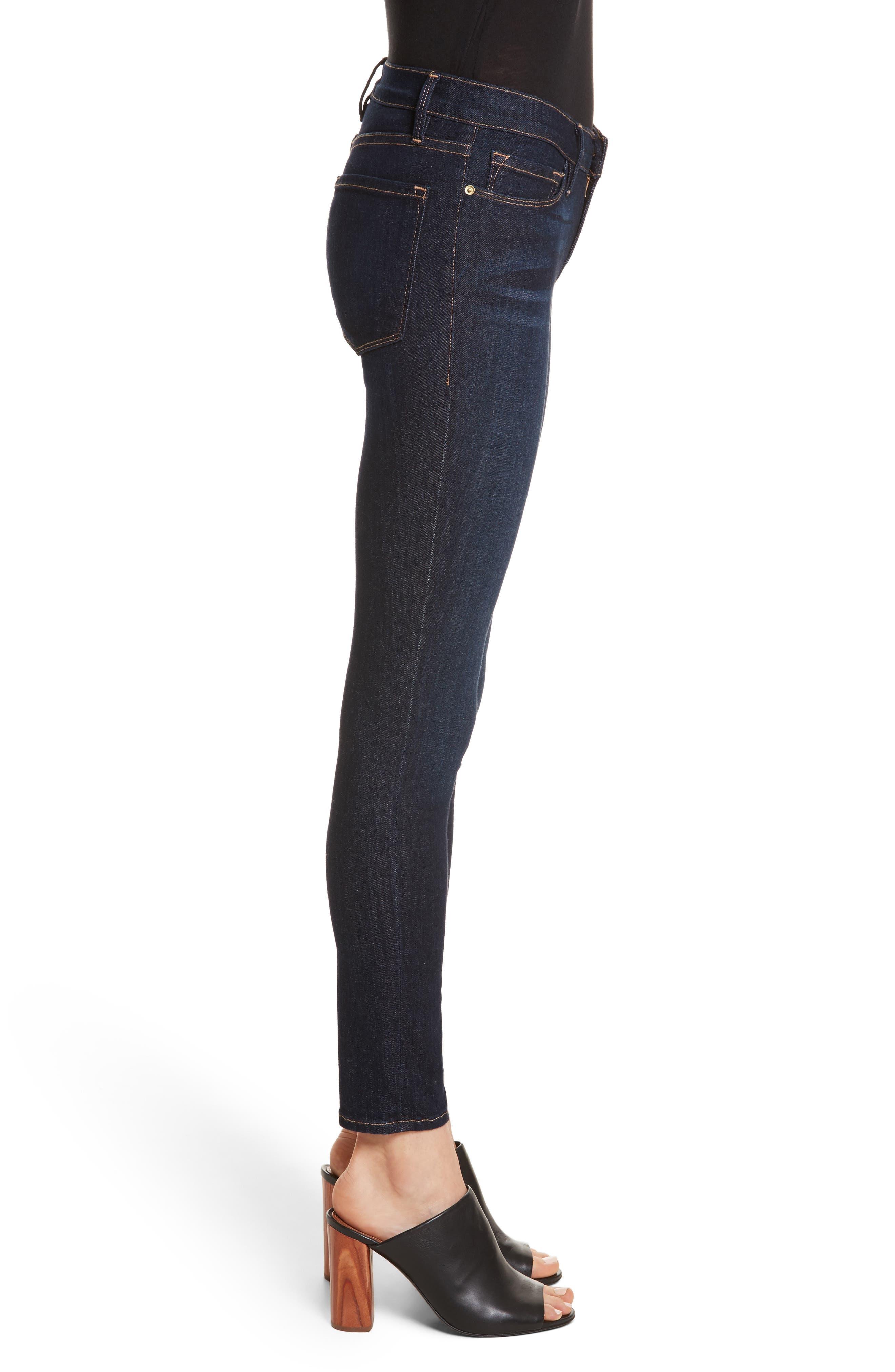 FRAME,                             Le Skinny de Jeanne Jeans,                             Alternate thumbnail 3, color,                             DAME