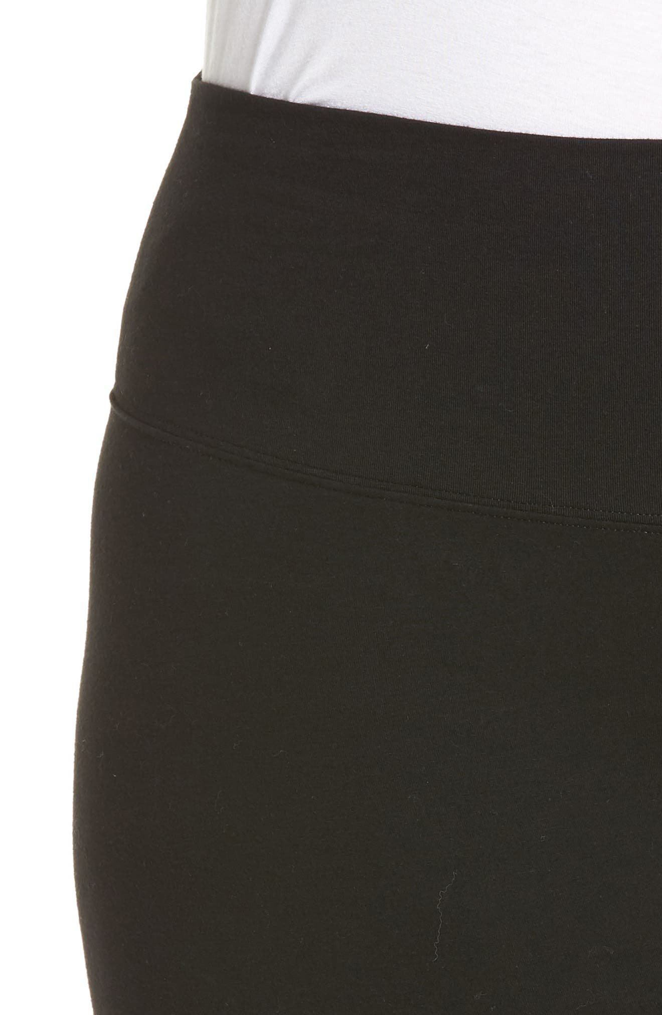Go To High Waist Crop Leggings,                             Alternate thumbnail 4, color,                             BLACK