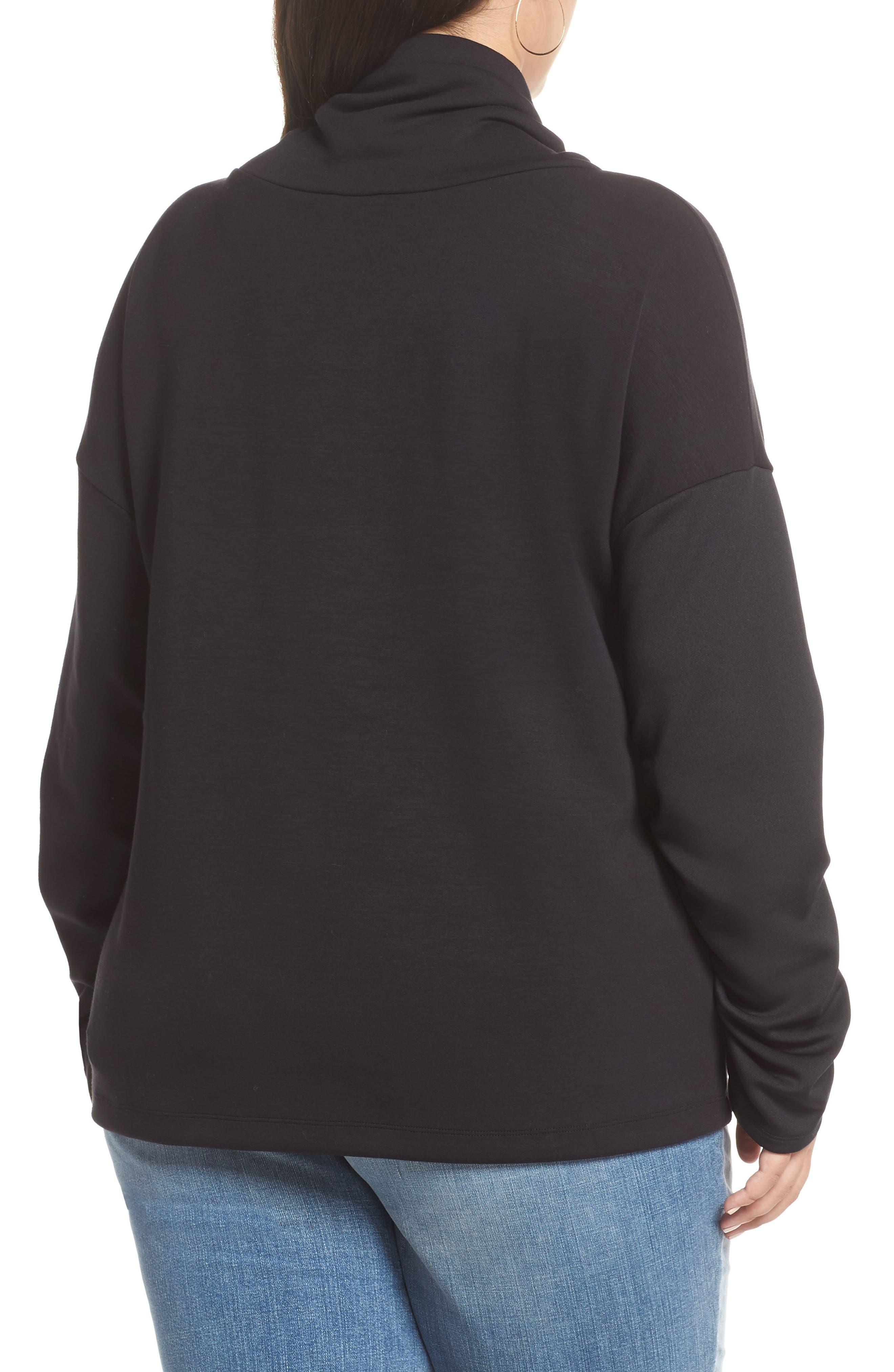 HALOGEN<SUP>®</SUP>,                             Cowl Neck Sweatshirt,                             Alternate thumbnail 2, color,                             001