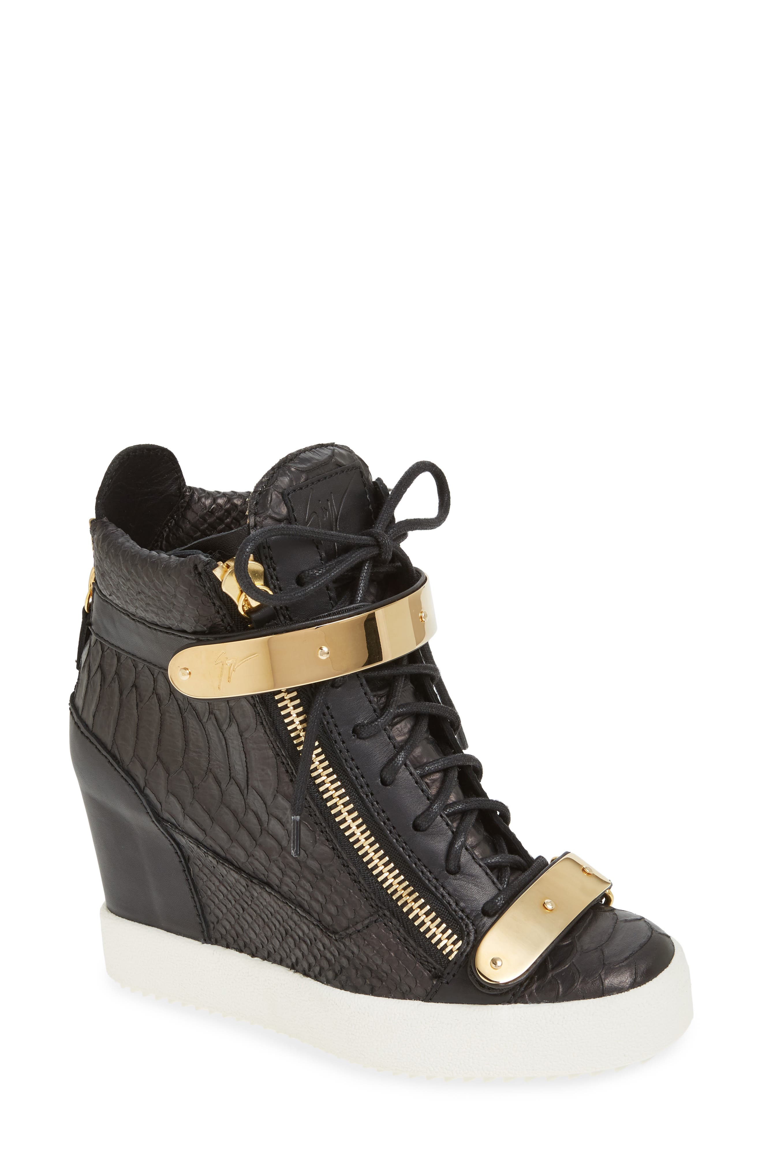 Wedge Sneaker,                             Main thumbnail 1, color,                             001