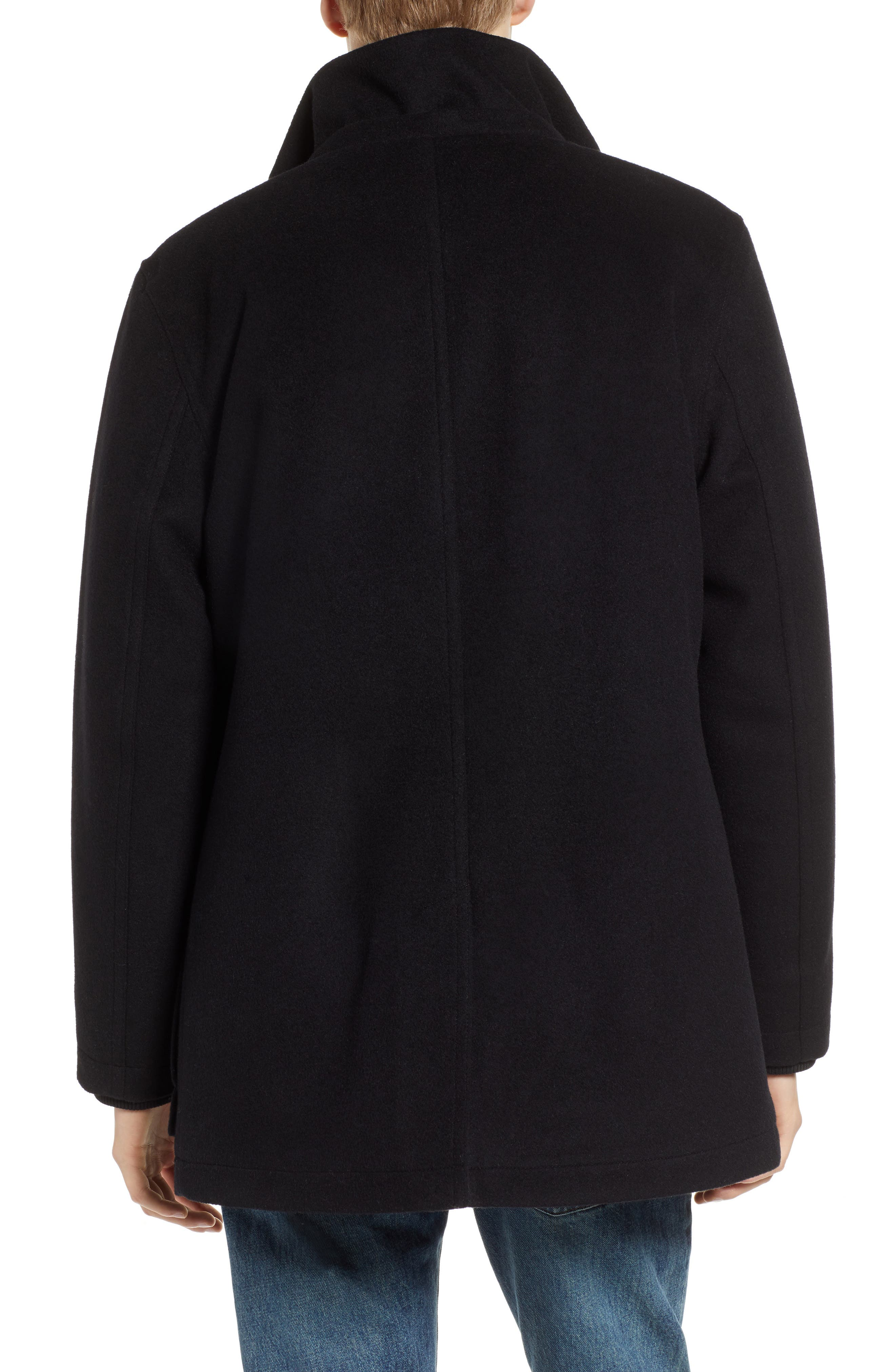 Bainbridge Water Repellent Wool Blend Metro Coat,                             Alternate thumbnail 2, color,                             BLACK