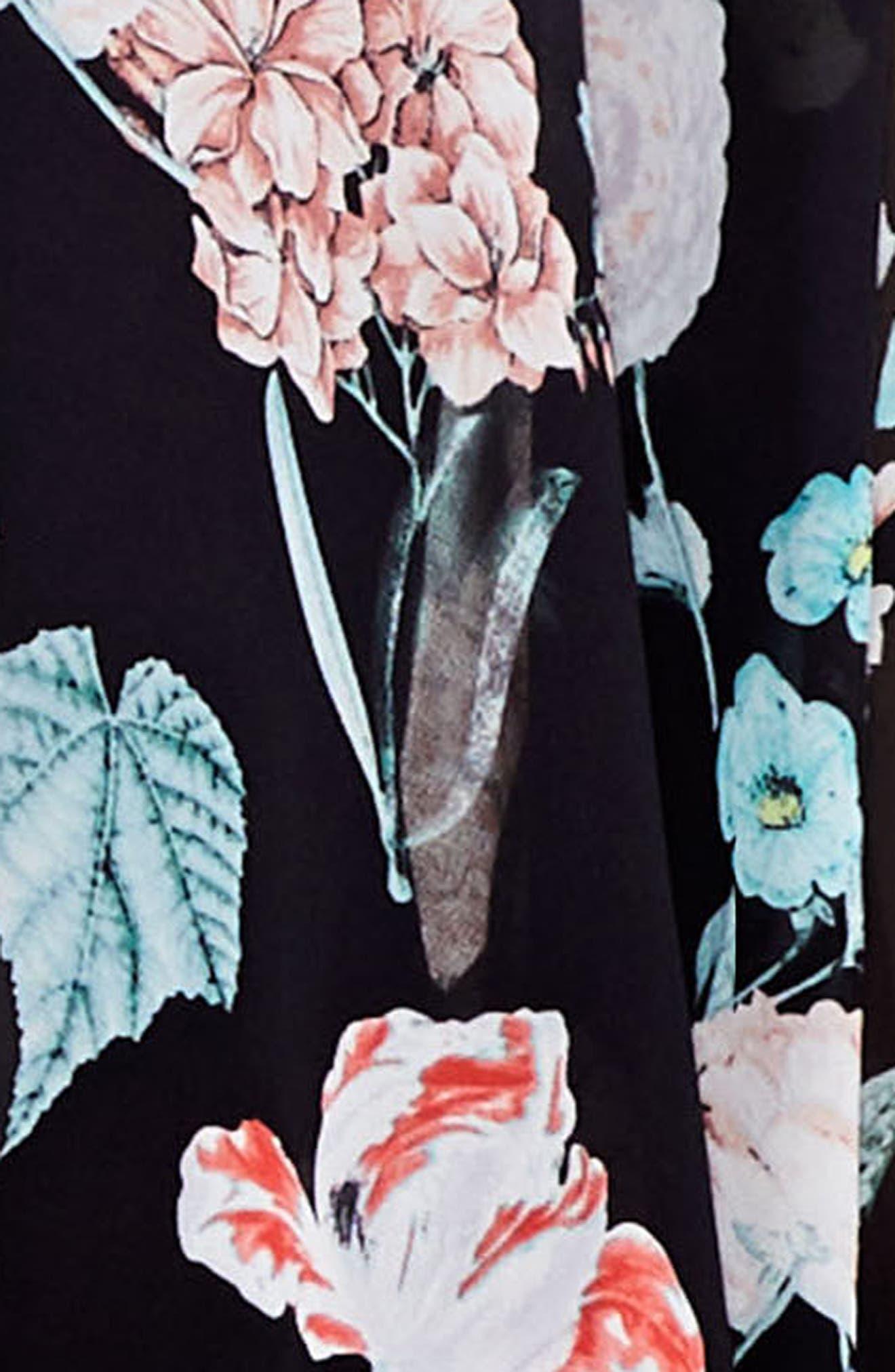 Floral Gardens Kimono Blouse,                             Alternate thumbnail 3, color,                             006