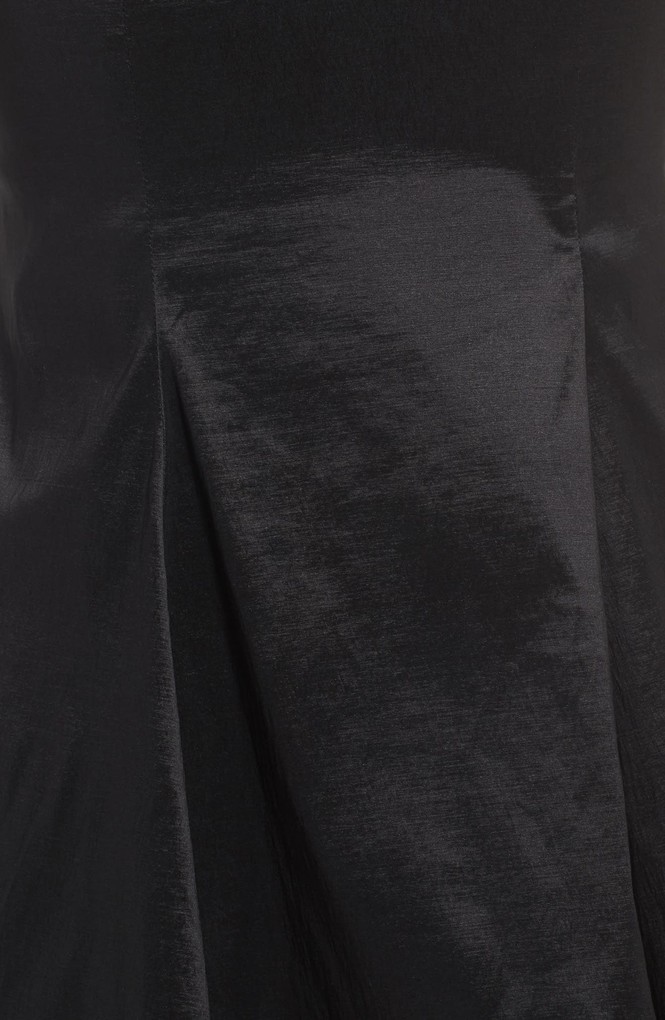 Beaded Bustier Peplum Gown,                             Alternate thumbnail 5, color,                             001