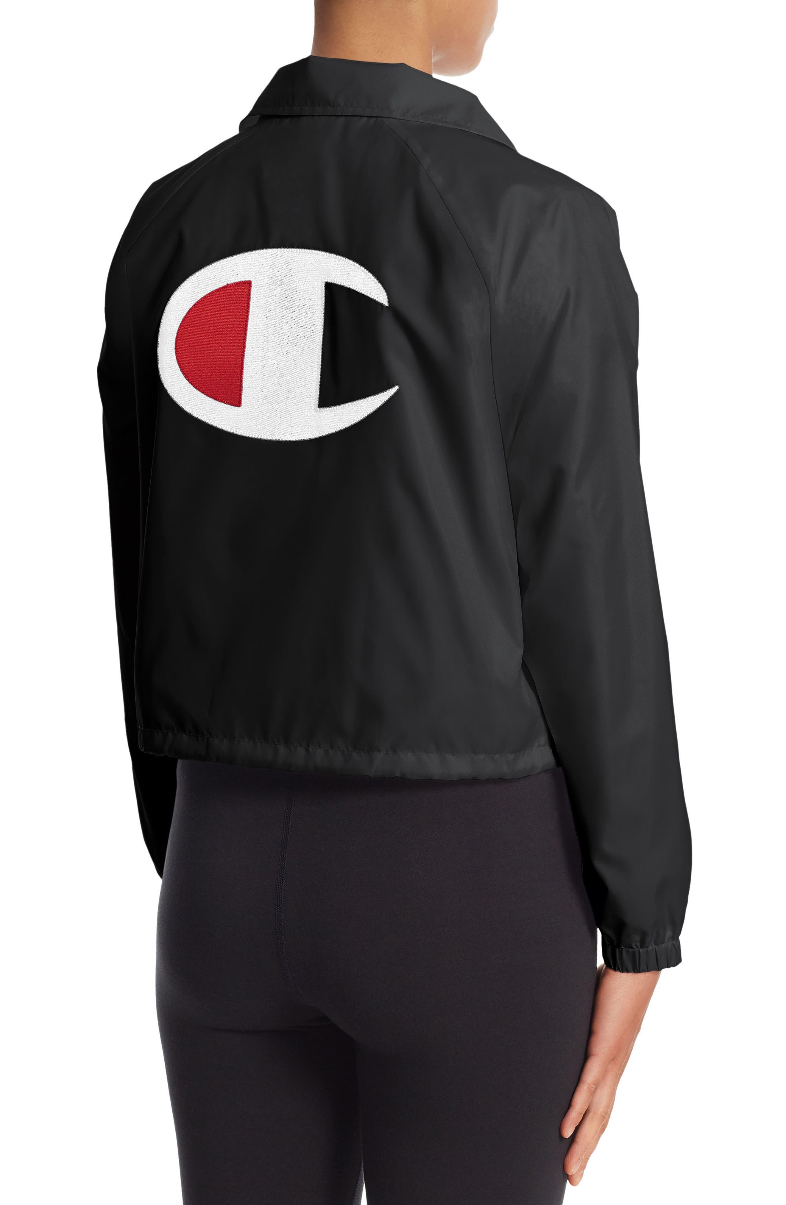 Crop Coach's Jacket,                             Alternate thumbnail 3, color,