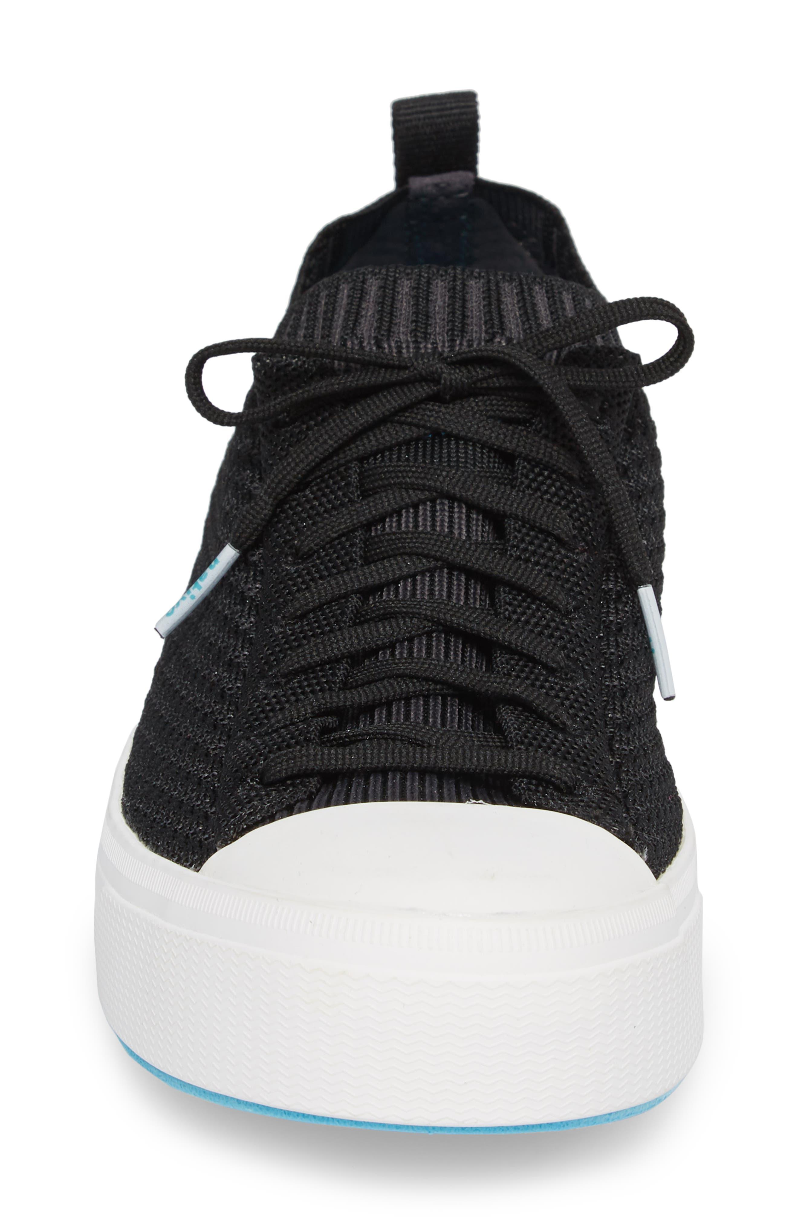 Jefferson 2.0 Liteknit Lace-Up Sneaker,                             Alternate thumbnail 4, color,                             JIFFY BLACK/ SHELL WHITE