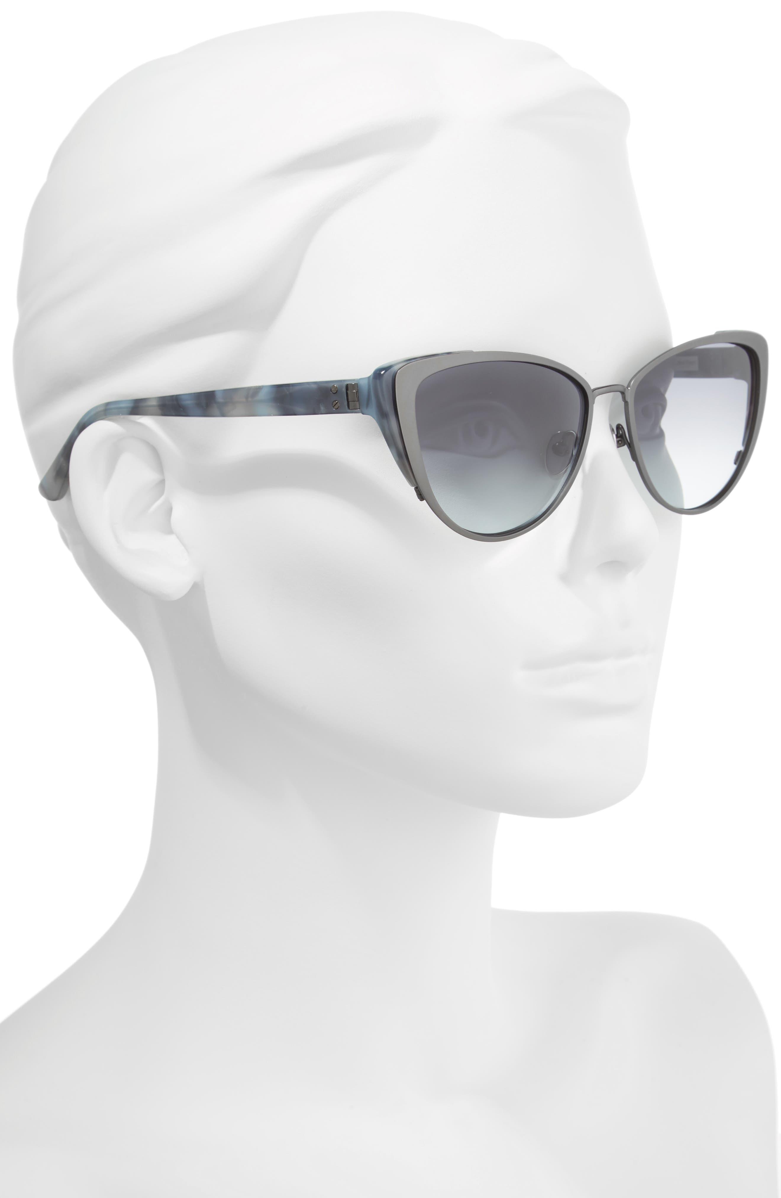 57mm Cat Eye Sunglasses,                             Alternate thumbnail 2, color,                             040