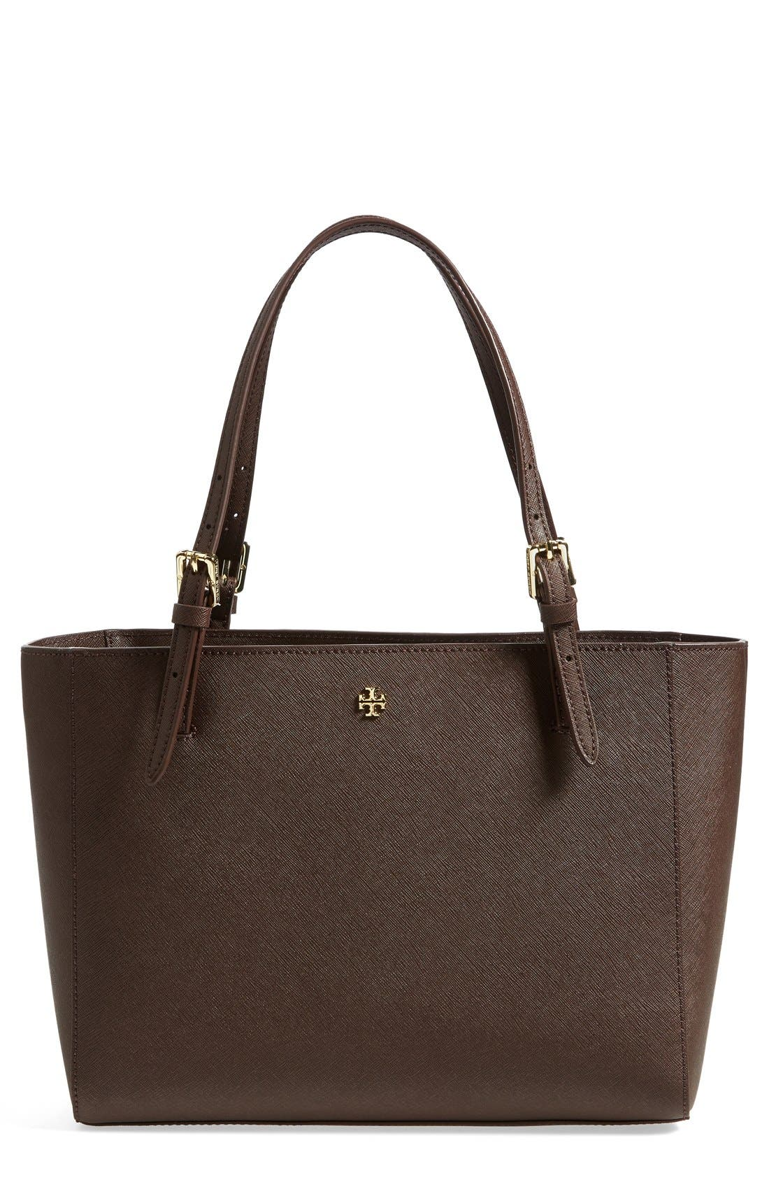 'Small York' Saffiano Leather Buckle Tote,                             Main thumbnail 6, color,