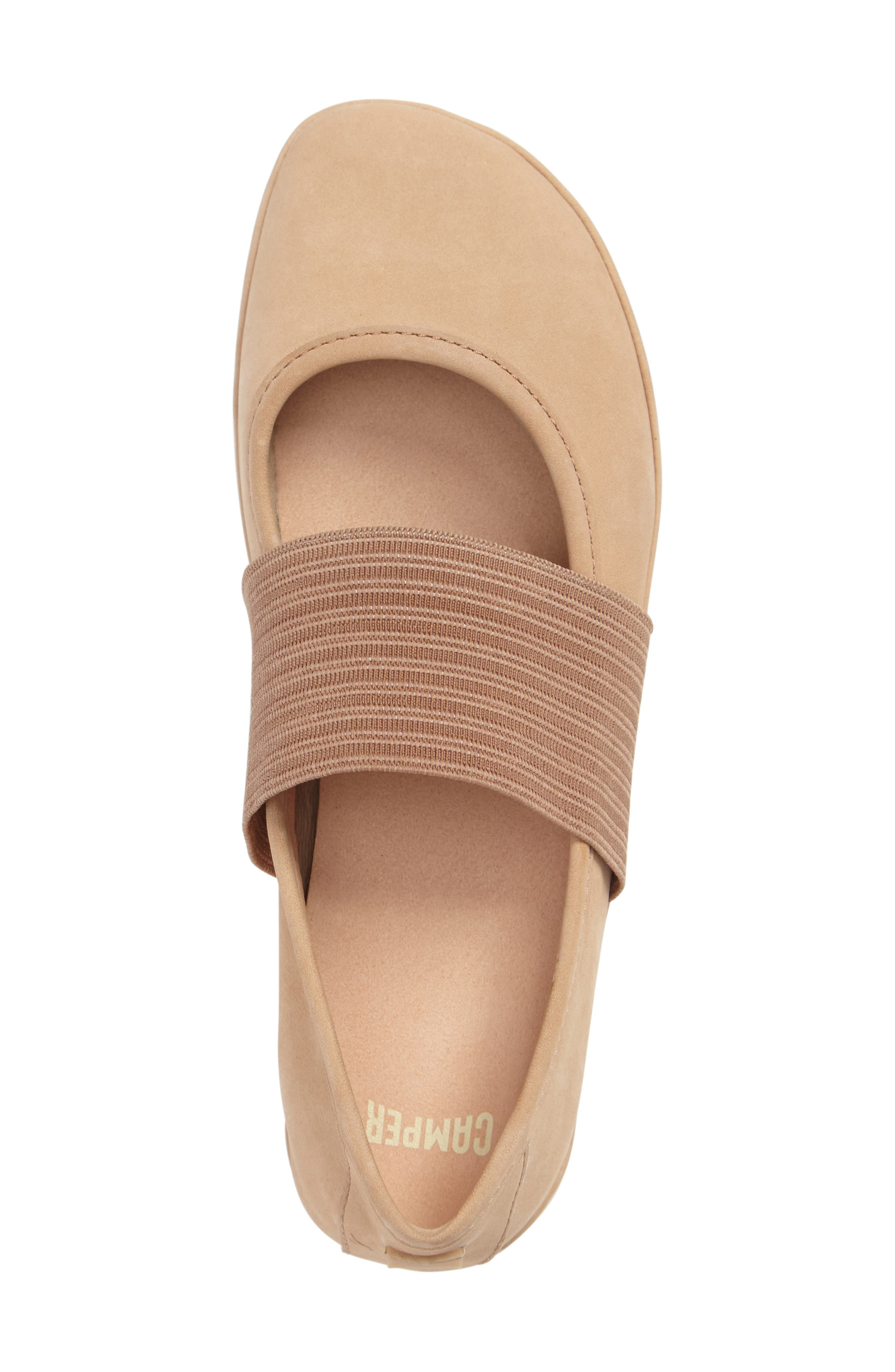 'Right Nina' Leather Ballerina Flat,                             Alternate thumbnail 60, color,