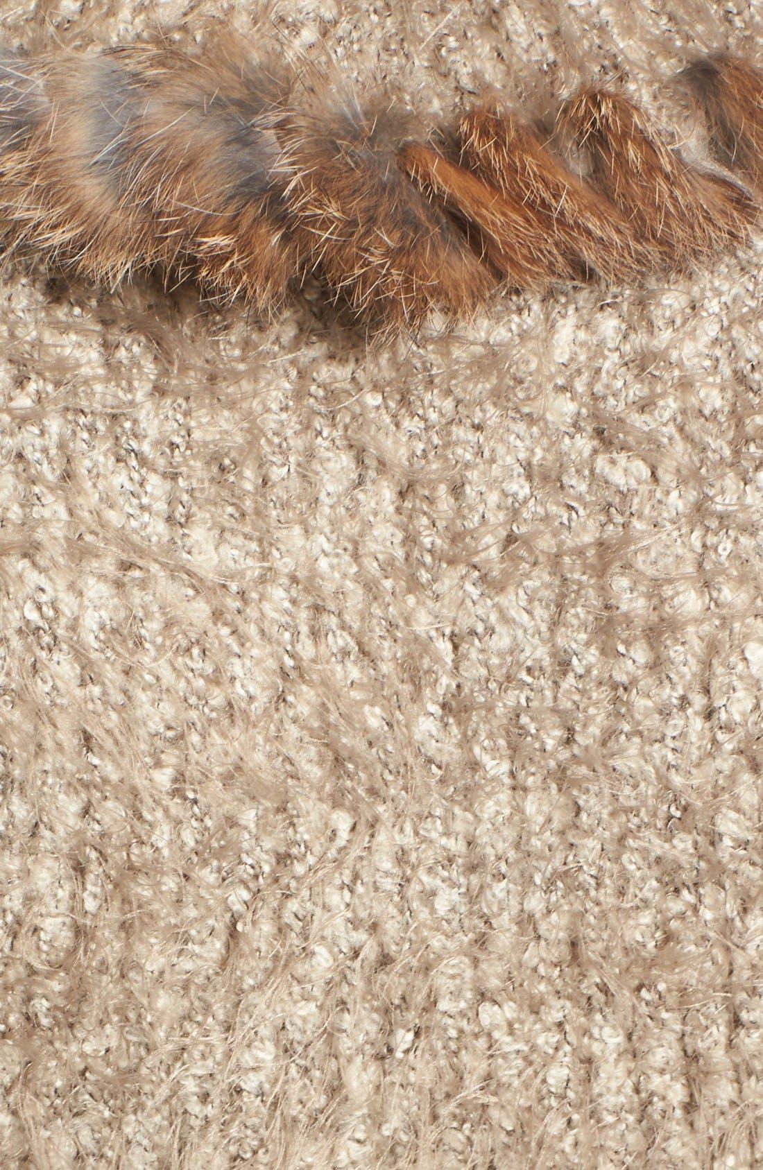 Knit Vest with Genuine Rabbit Fur Trim,                             Alternate thumbnail 14, color,