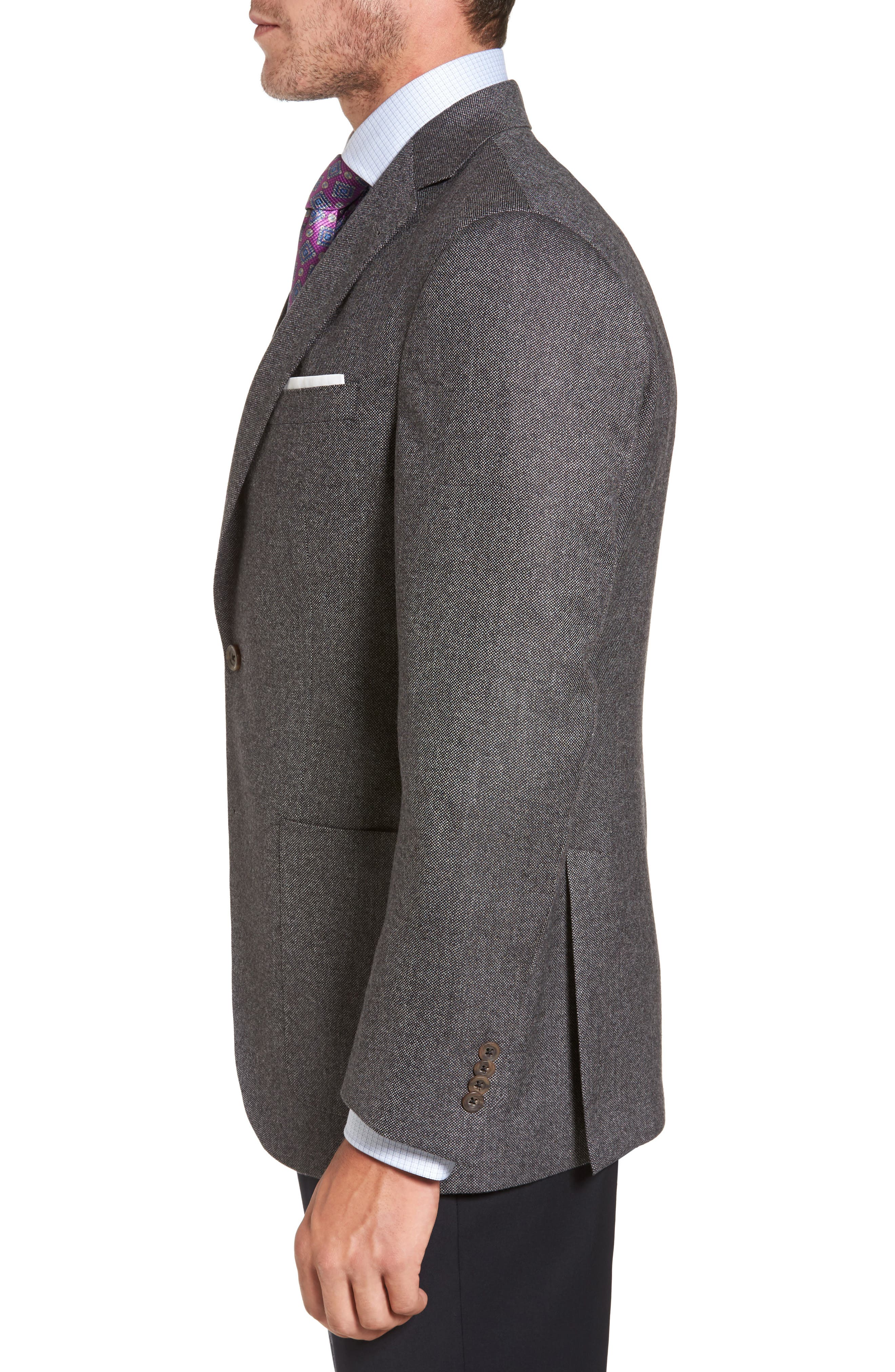 Aiden Classic Fit Wool Blazer,                             Alternate thumbnail 3, color,                             020