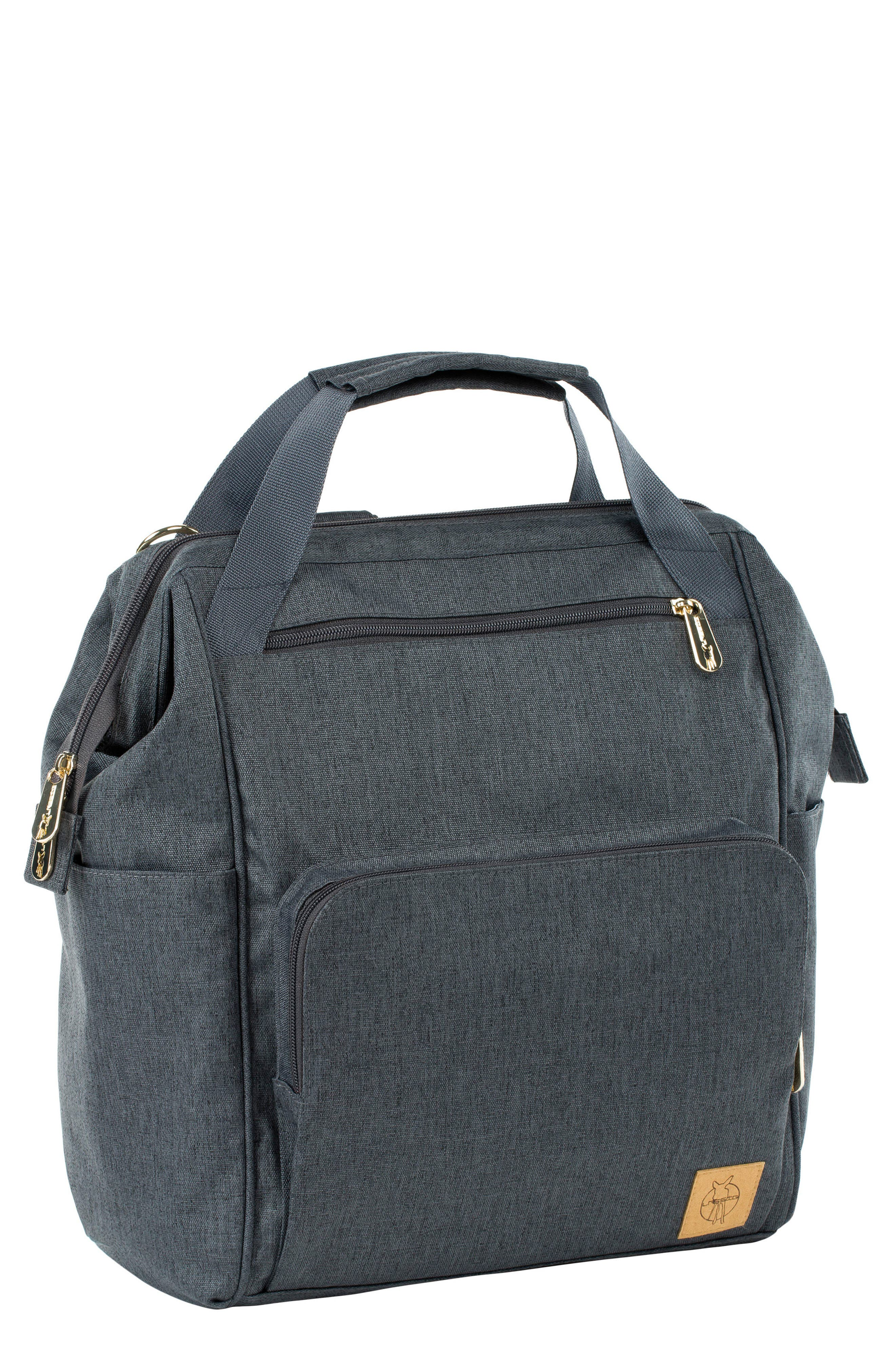 Glam Goldie Diaper Backpack,                             Main thumbnail 1, color,                             ANTHRACITE