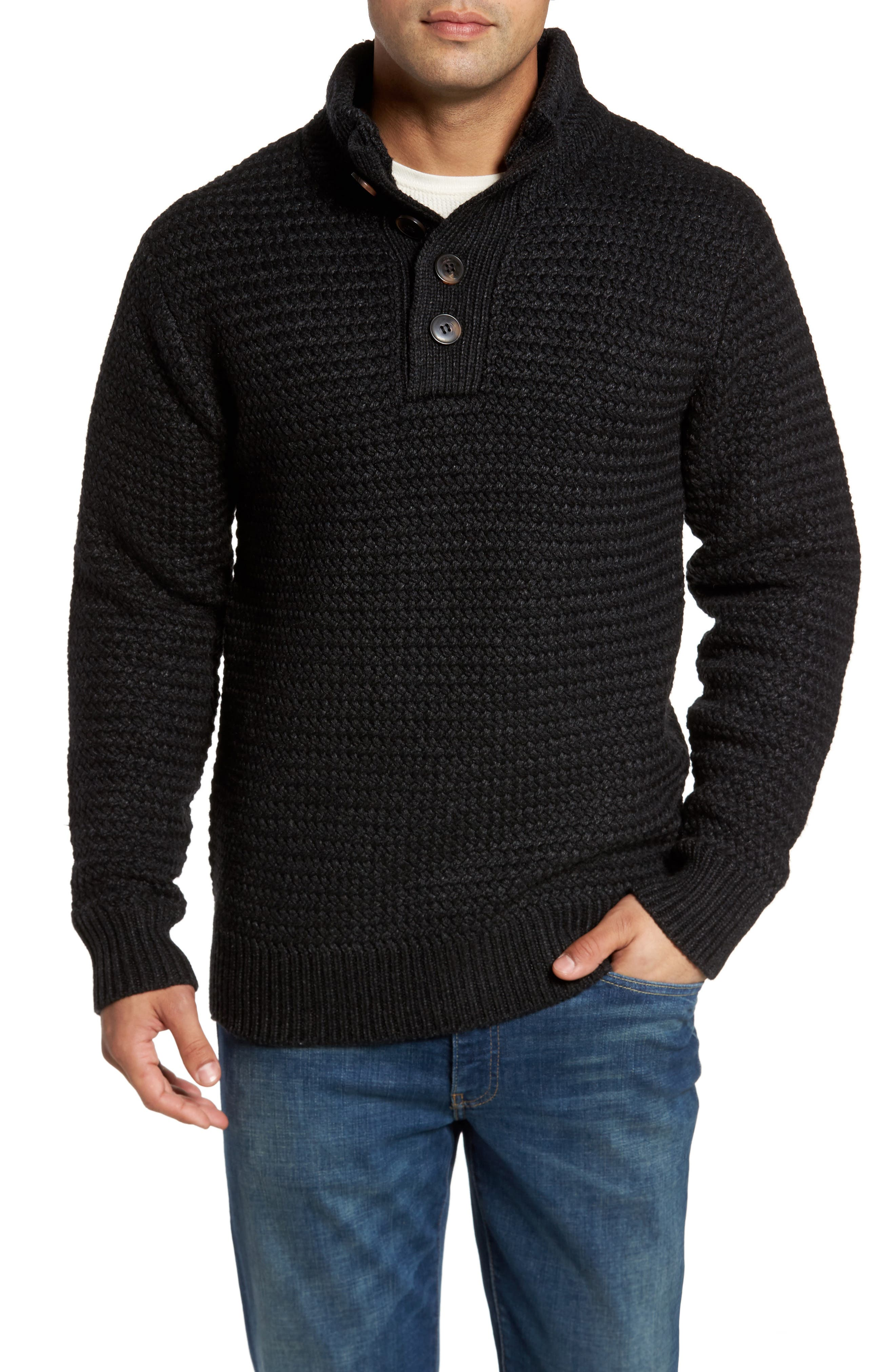Military Henley Sweater,                         Main,                         color, 001