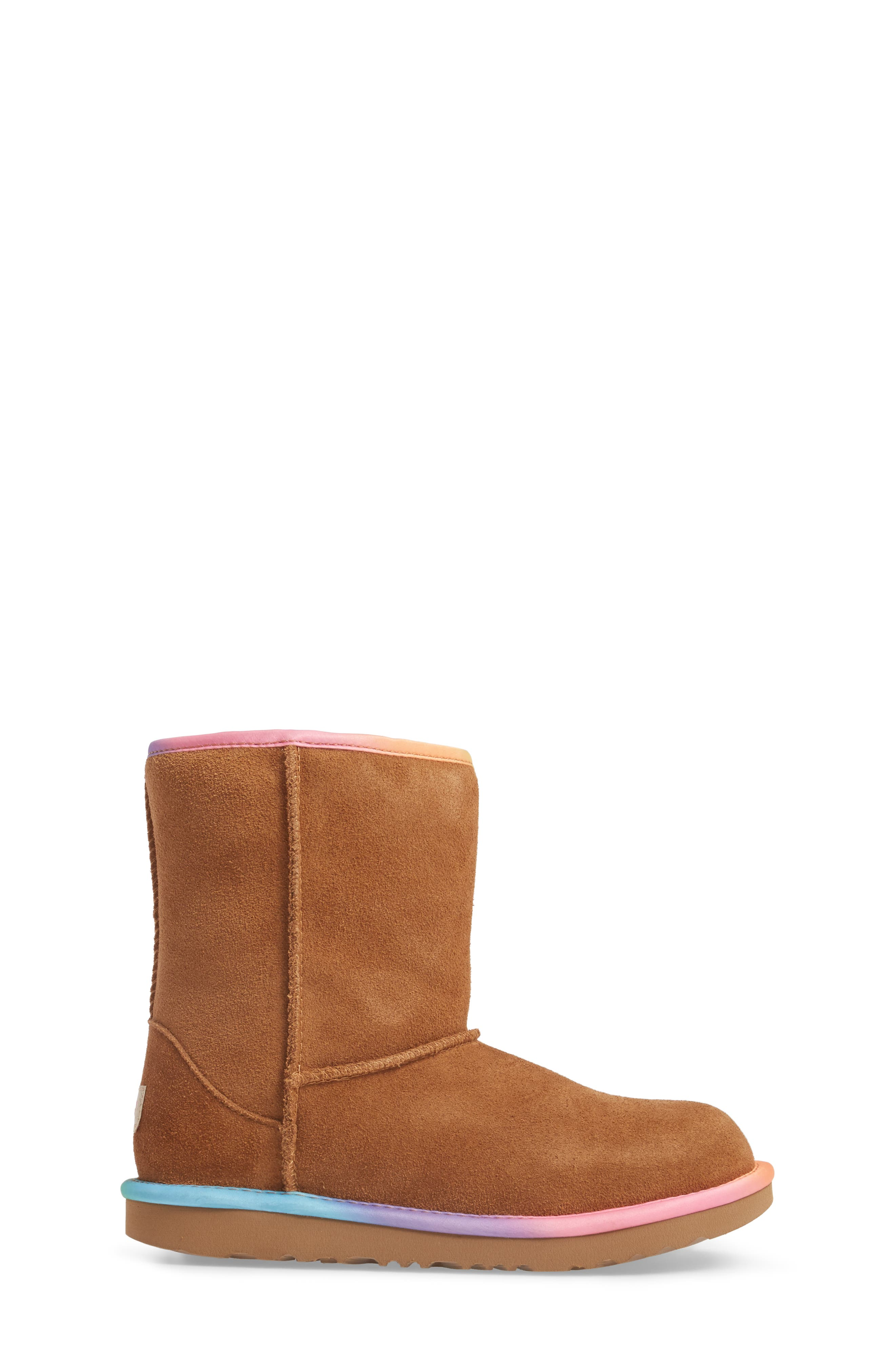Classic Short II Water-Resistant Genuine Shearling Rainbow Boot,                             Alternate thumbnail 5, color,