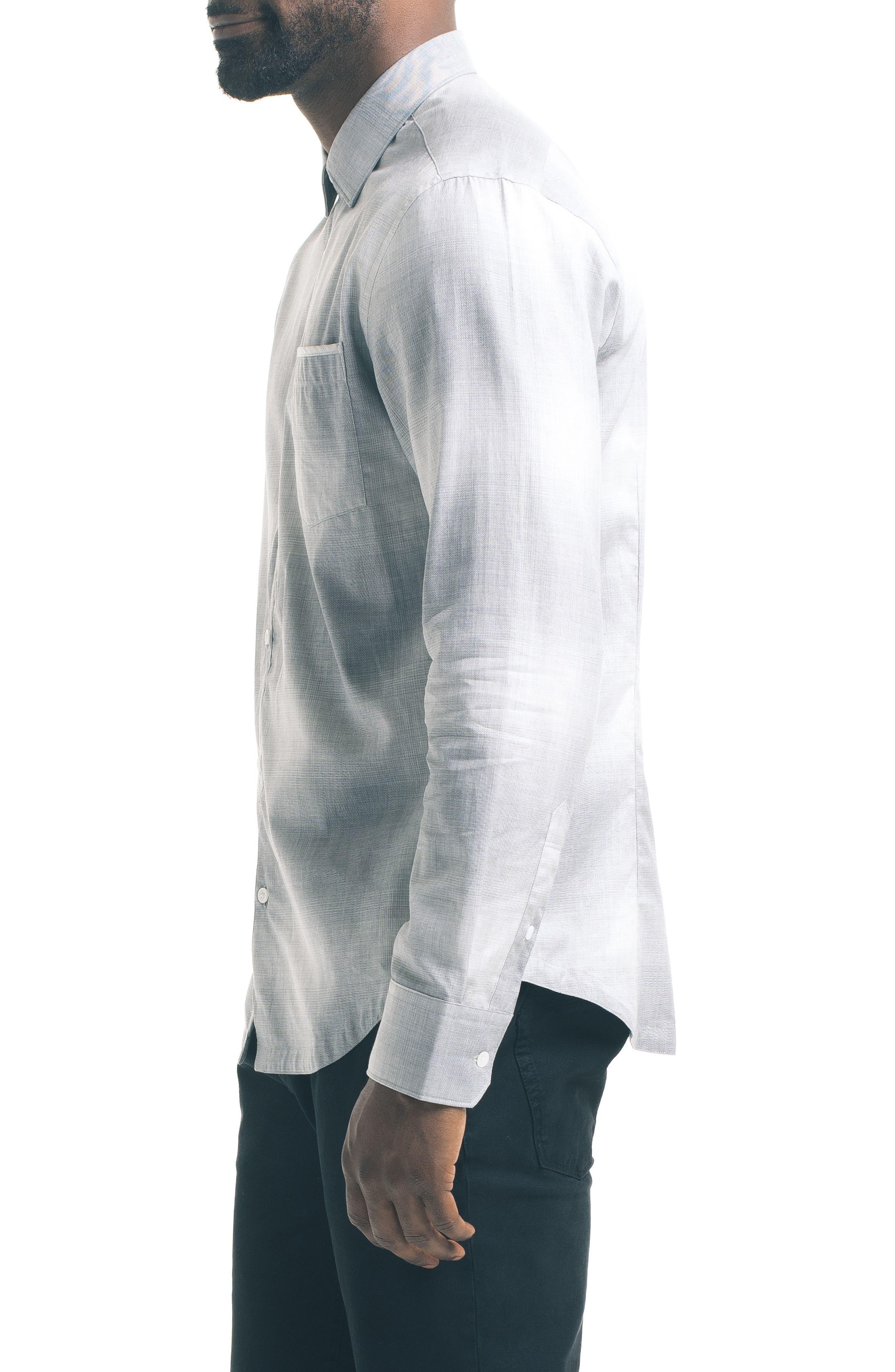 Slim Fit Ombré Check Sport Shirt,                             Alternate thumbnail 3, color,                             020