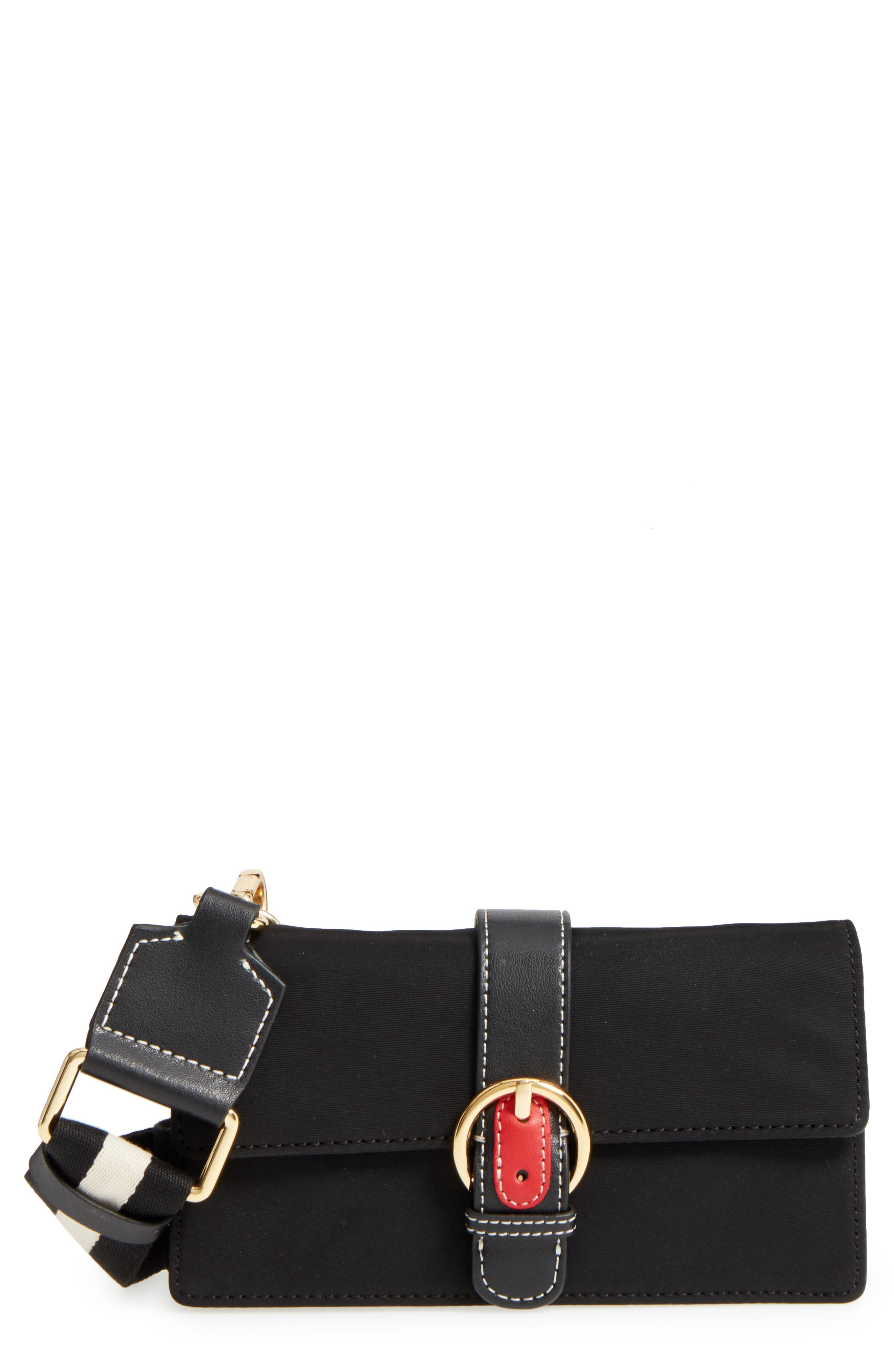Nylon Crossbody Wallet,                             Main thumbnail 1, color,                             001