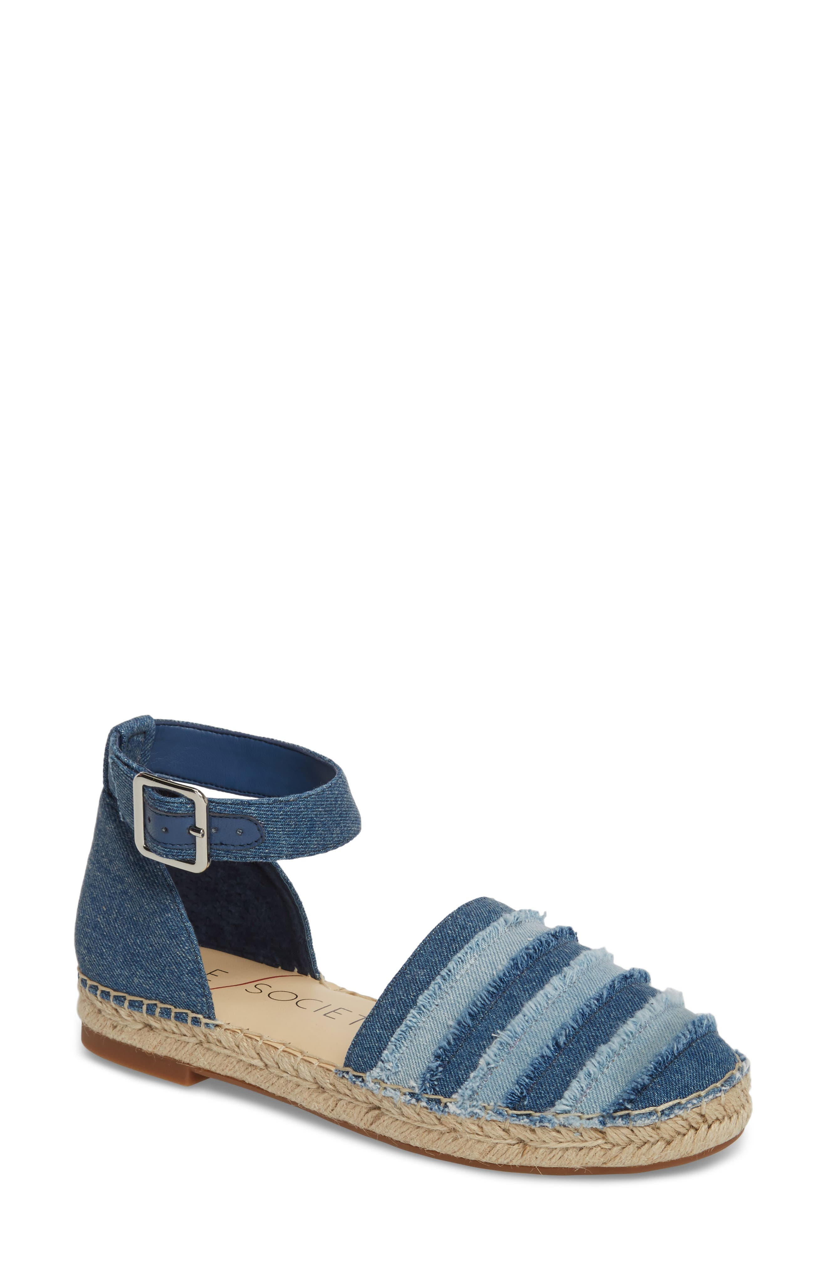 Sole Society Stacie Espadrille Sandal, Blue