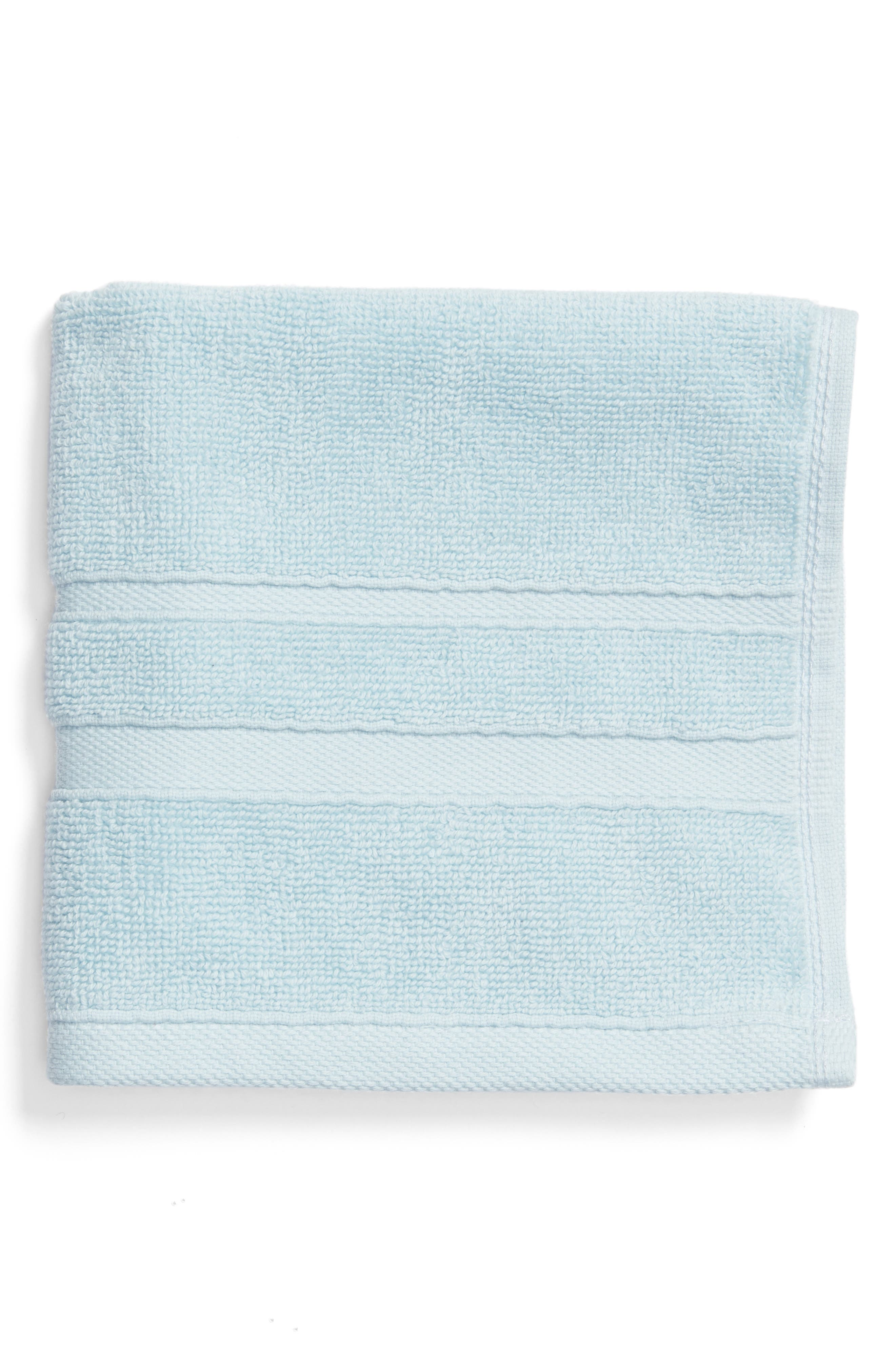 'Perennial' Combed Turkish Cotton Washcloth,                         Main,                         color, CHRYSTAL BLUE