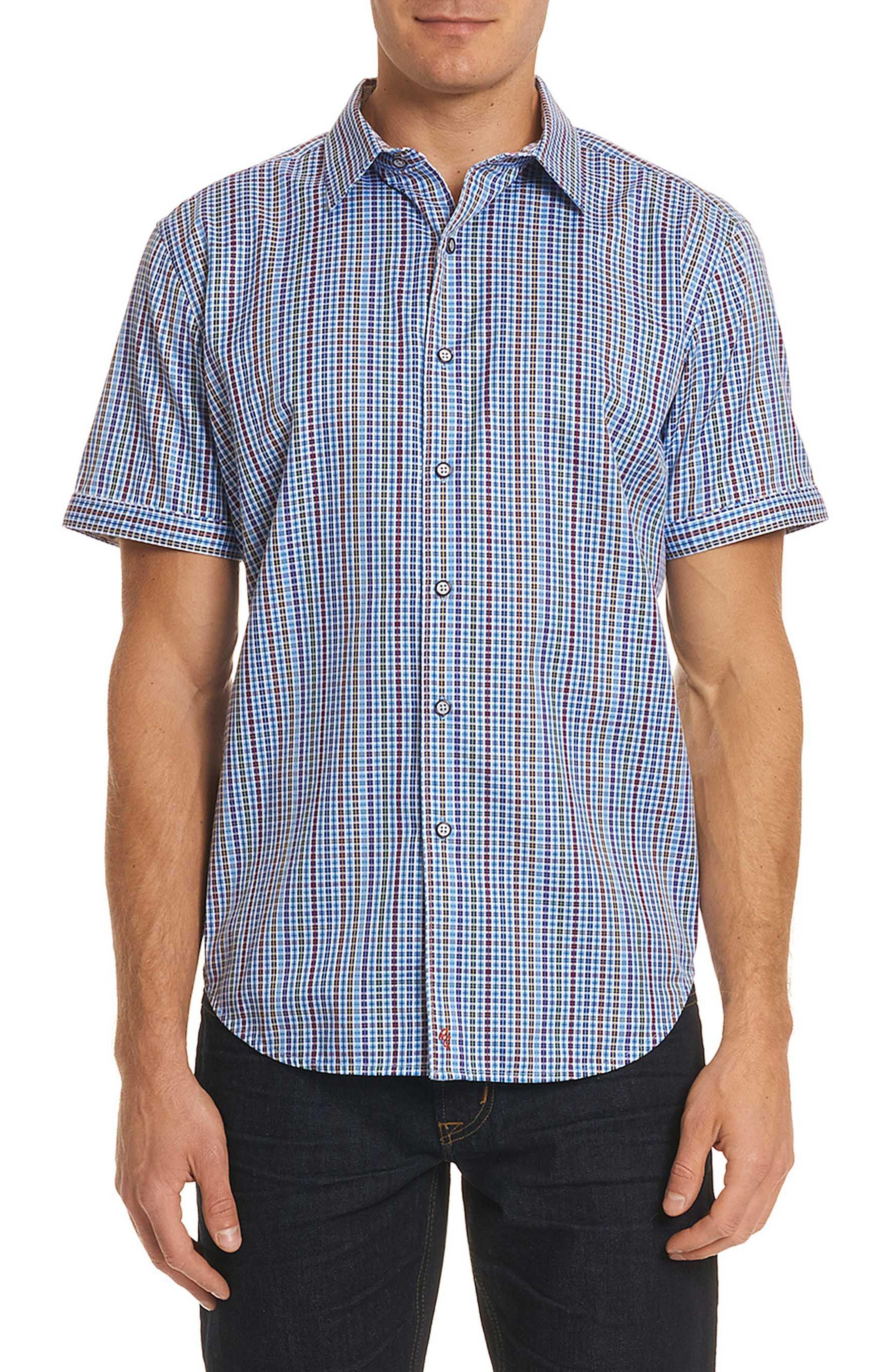 Palma Classic Fit Plaid Sport Shirt,                         Main,                         color, 450