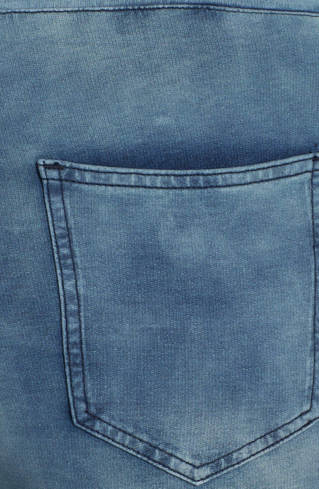 'Naomi' Stretch Knit Denim Jogger Pants,                             Alternate thumbnail 3, color,                             NOEL